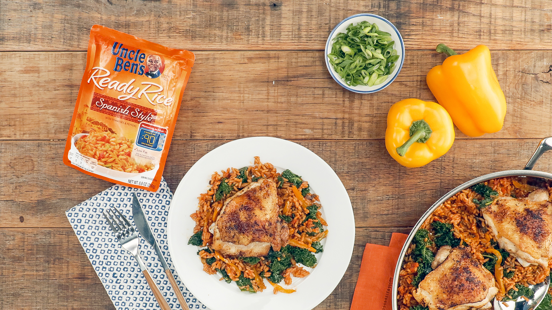 Spanish-Style Chicken and Rice Uncle Ben's