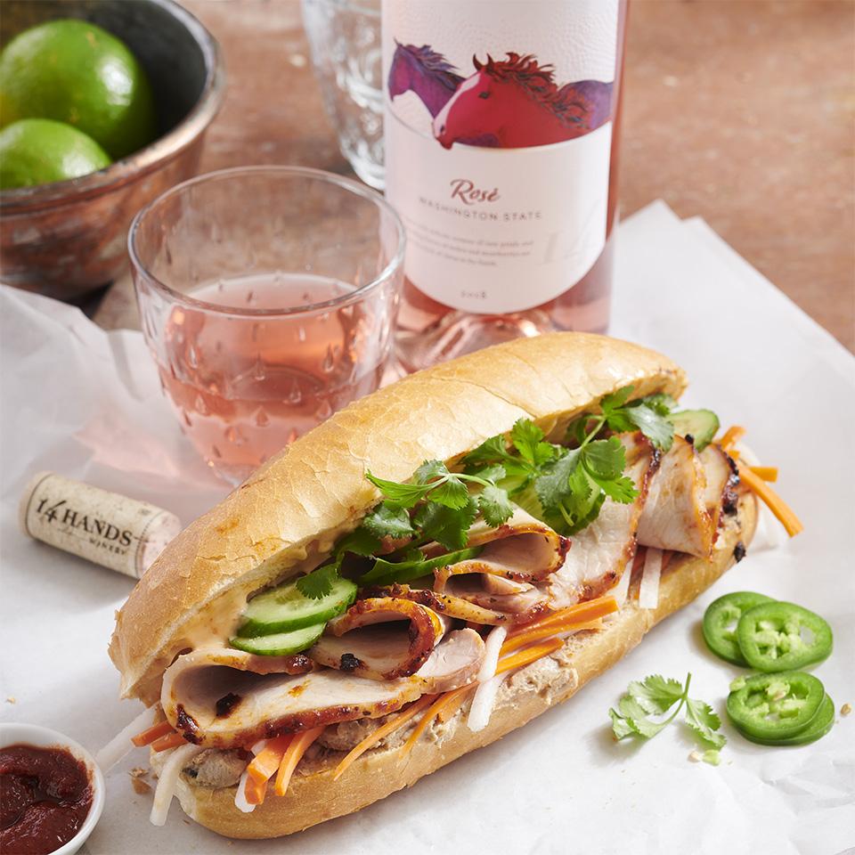 Pork Bahn Mi Sandwich 14 Hands Winery