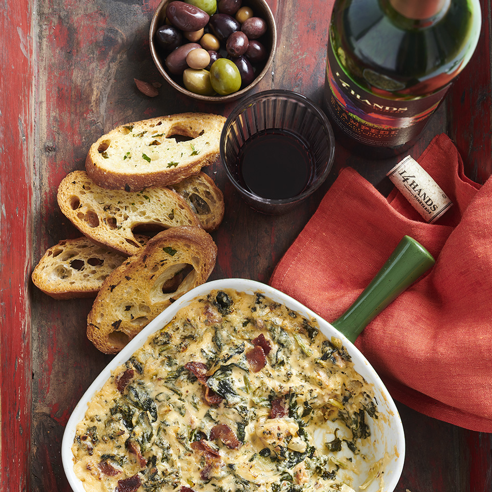 Spinach Kale Bacon Dip 14 Hands Winery