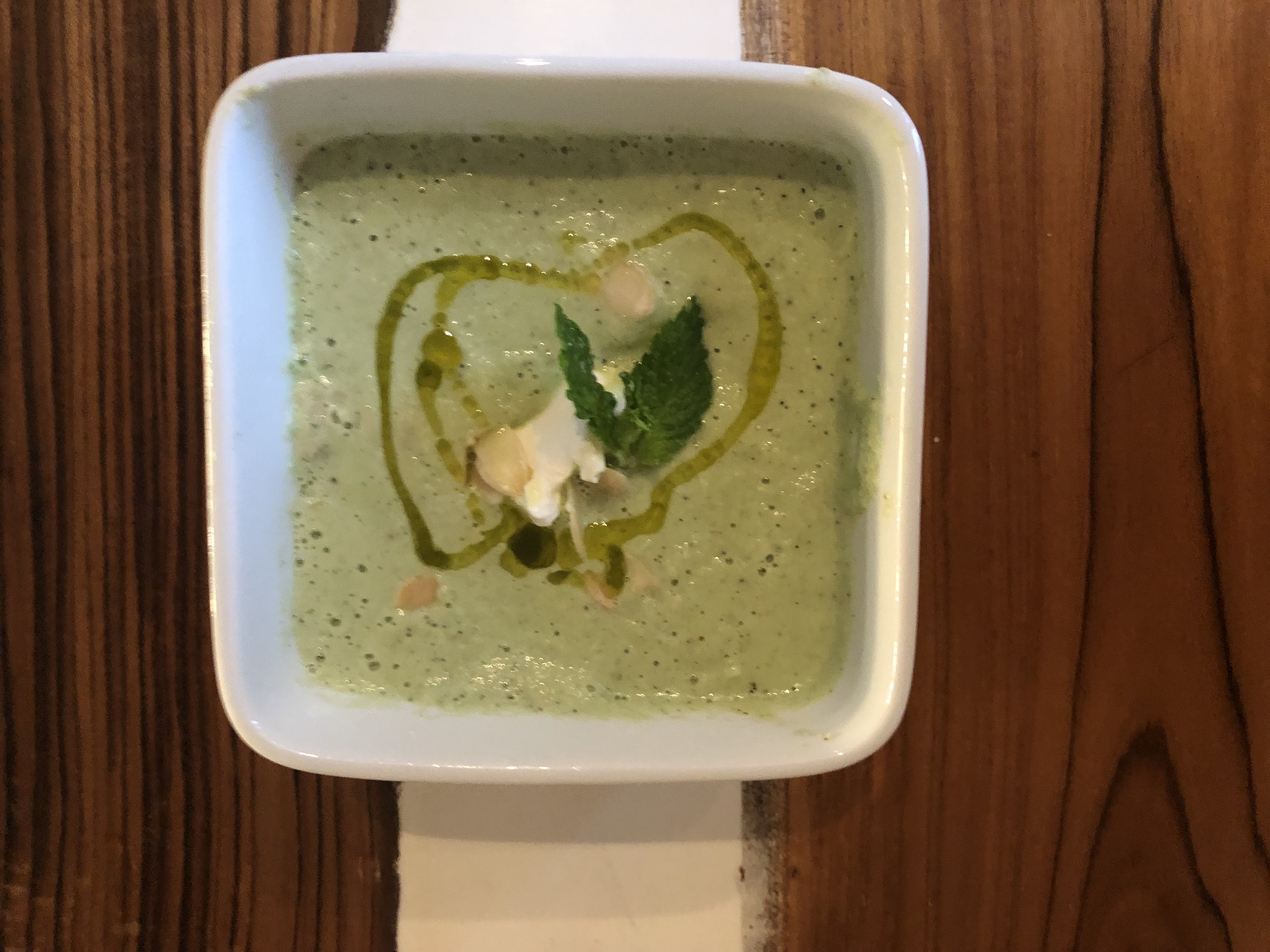 Creamy Cold Cucumber Soup with Labneh