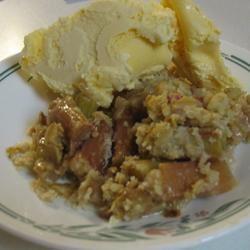 Rhubarb Crumble Pie ChefScharny
