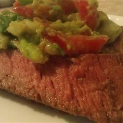 Flank Steak with Avocado Salsa
