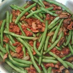 Sauteed Green Beans with Mushrooms, Onion, and Bacon ShoeGirl