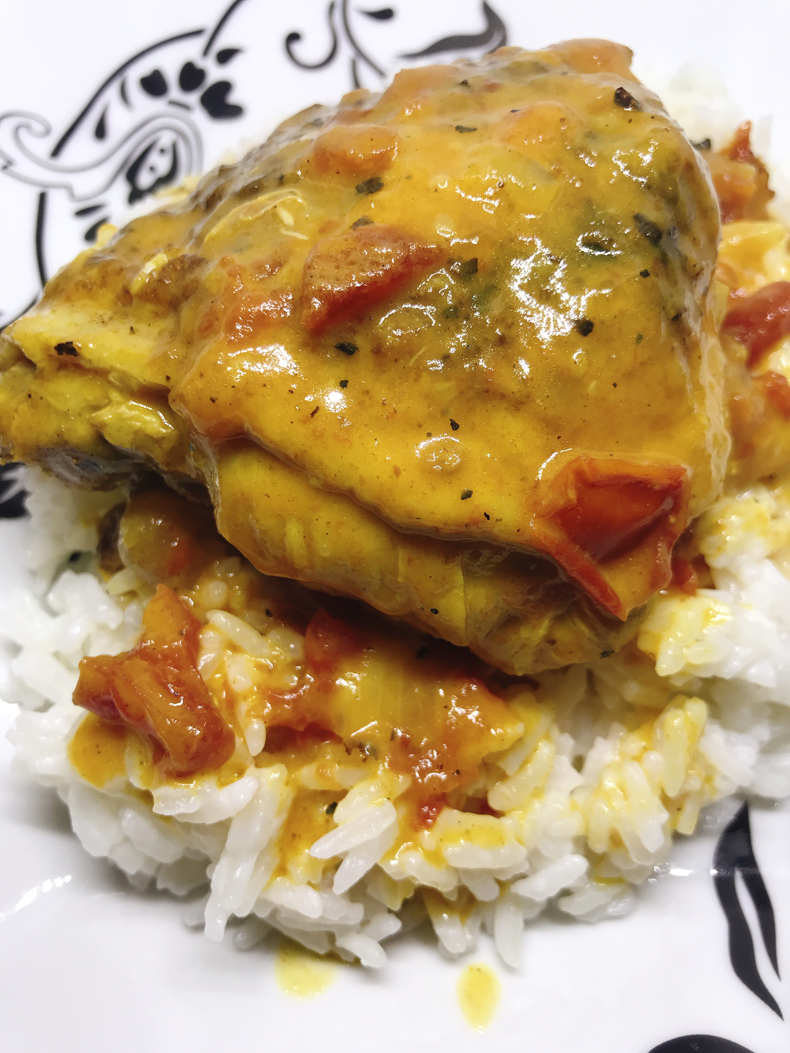 Instant Pot® Curried Chicken Thighs