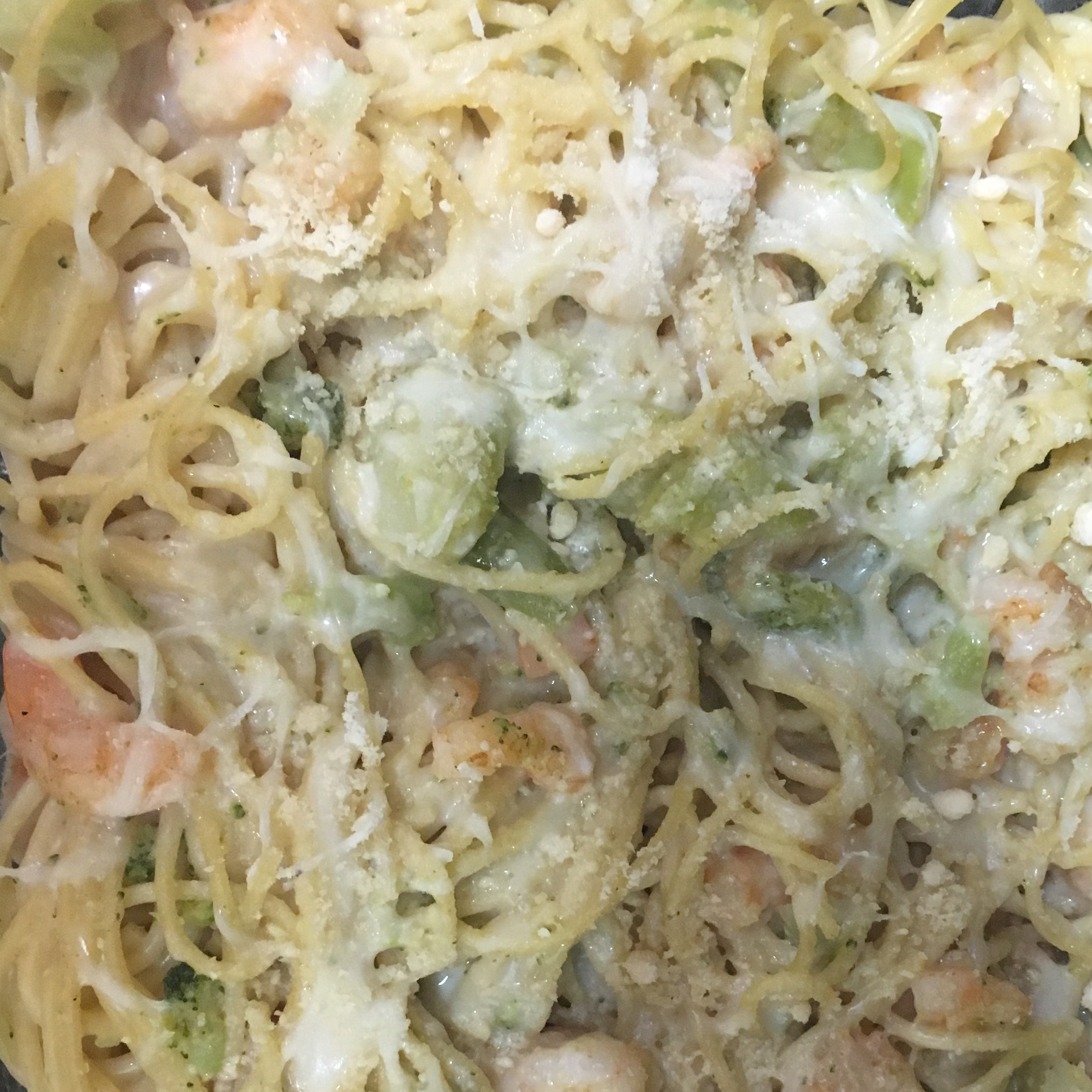 Shrimp Alfredo Broccoli Bake Bar-B Crocker