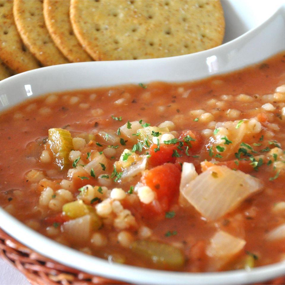 Swanson® Roasted Tomato and Barley Soup Alberta Rose