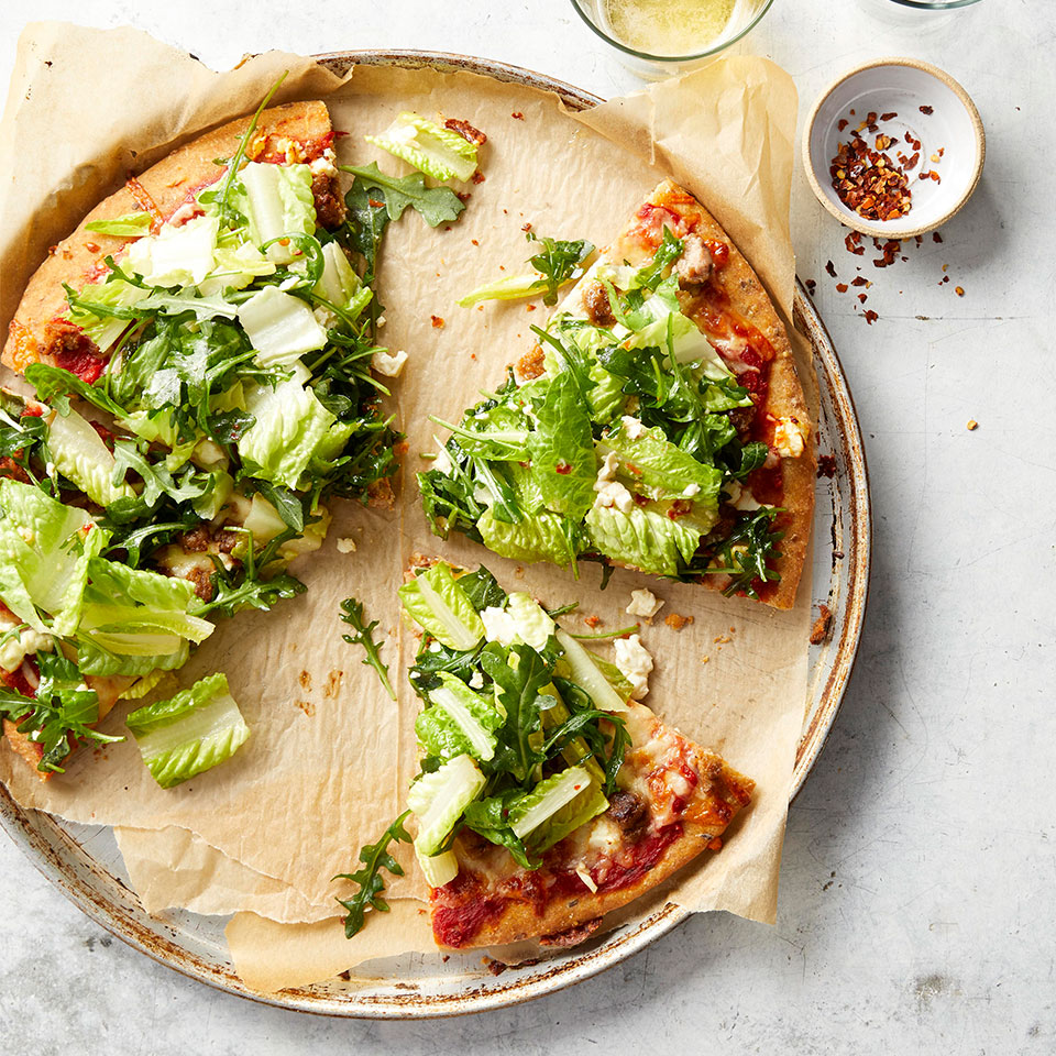 Chopped Salad Pizza with Sausage Karen Rankin