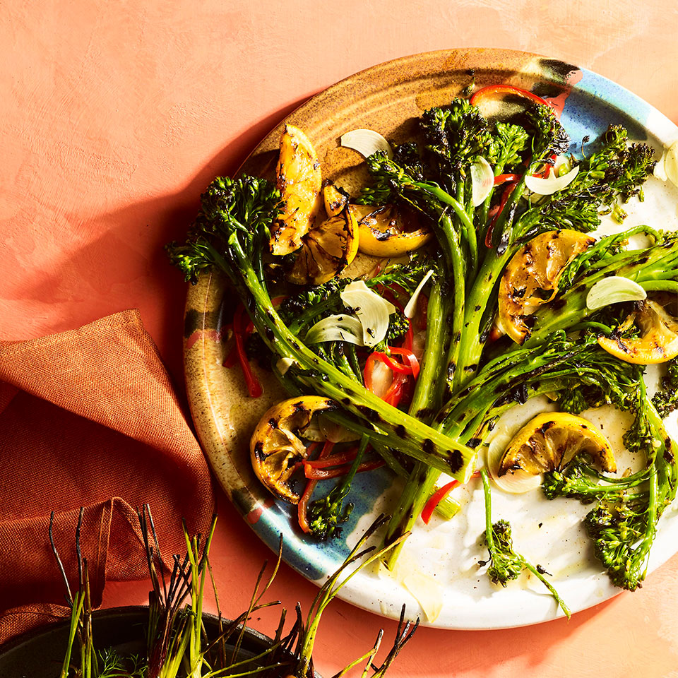 Grilled Broccolini with Garlic-Chile Oil Judith Fertig