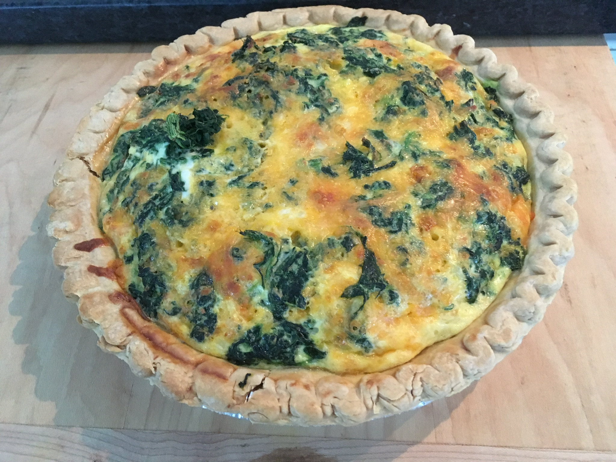 Transformed Spinach Mushroom Quiche Recipe Allrecipes