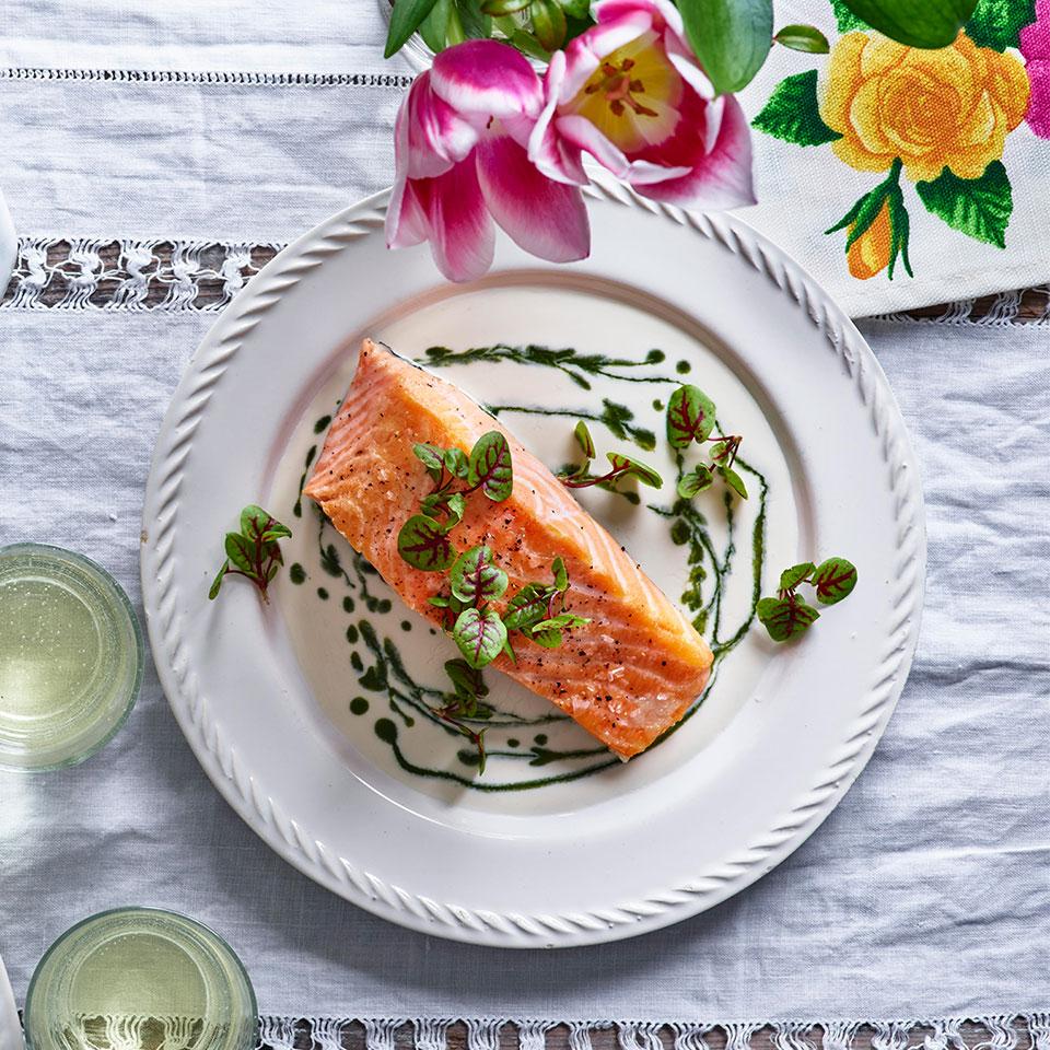 Salmon with Sorrel Sauce Jamie Simpson