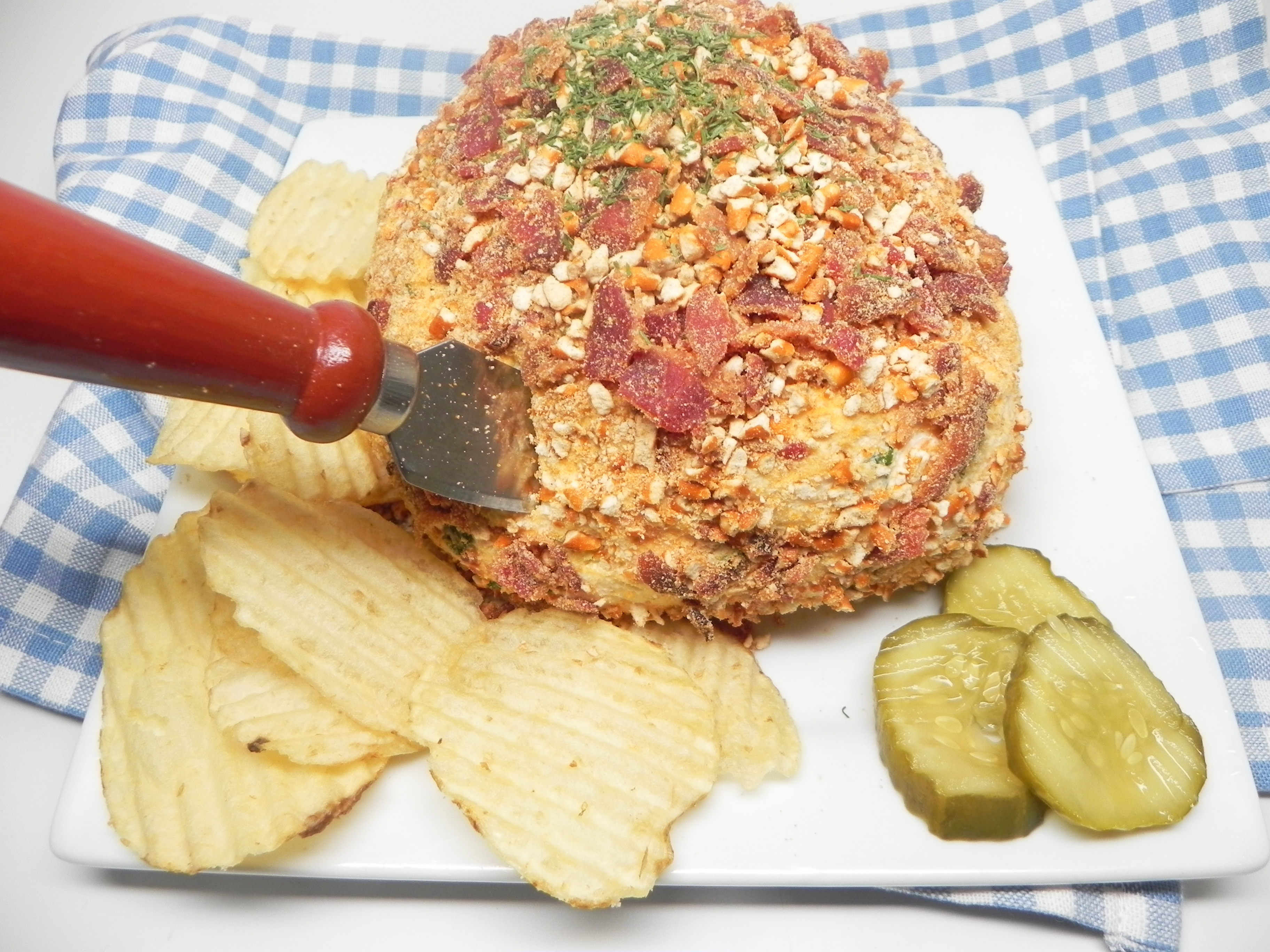 Bacon and Dill Pickle Cheese Ball