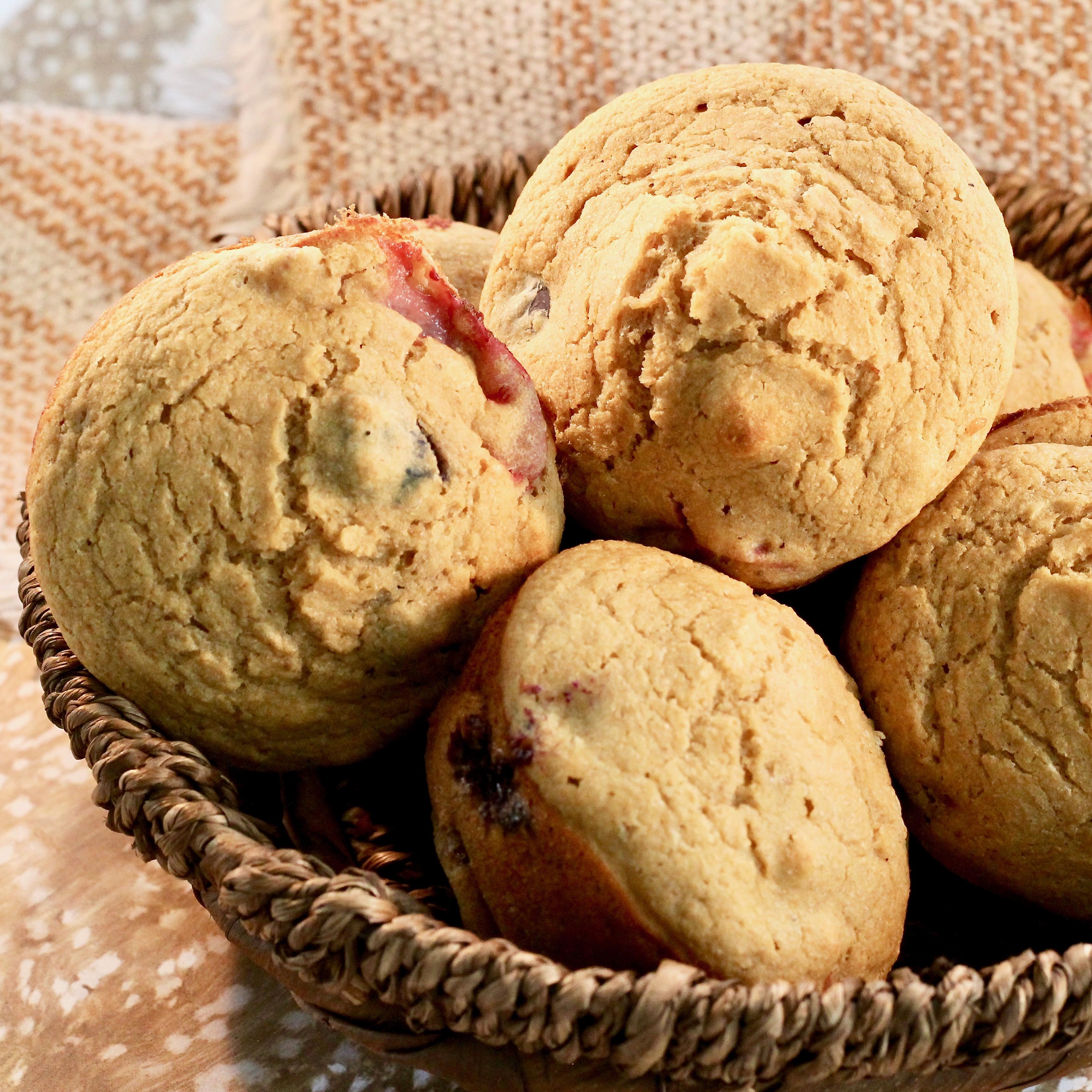 Healthy Strawberry Muffins