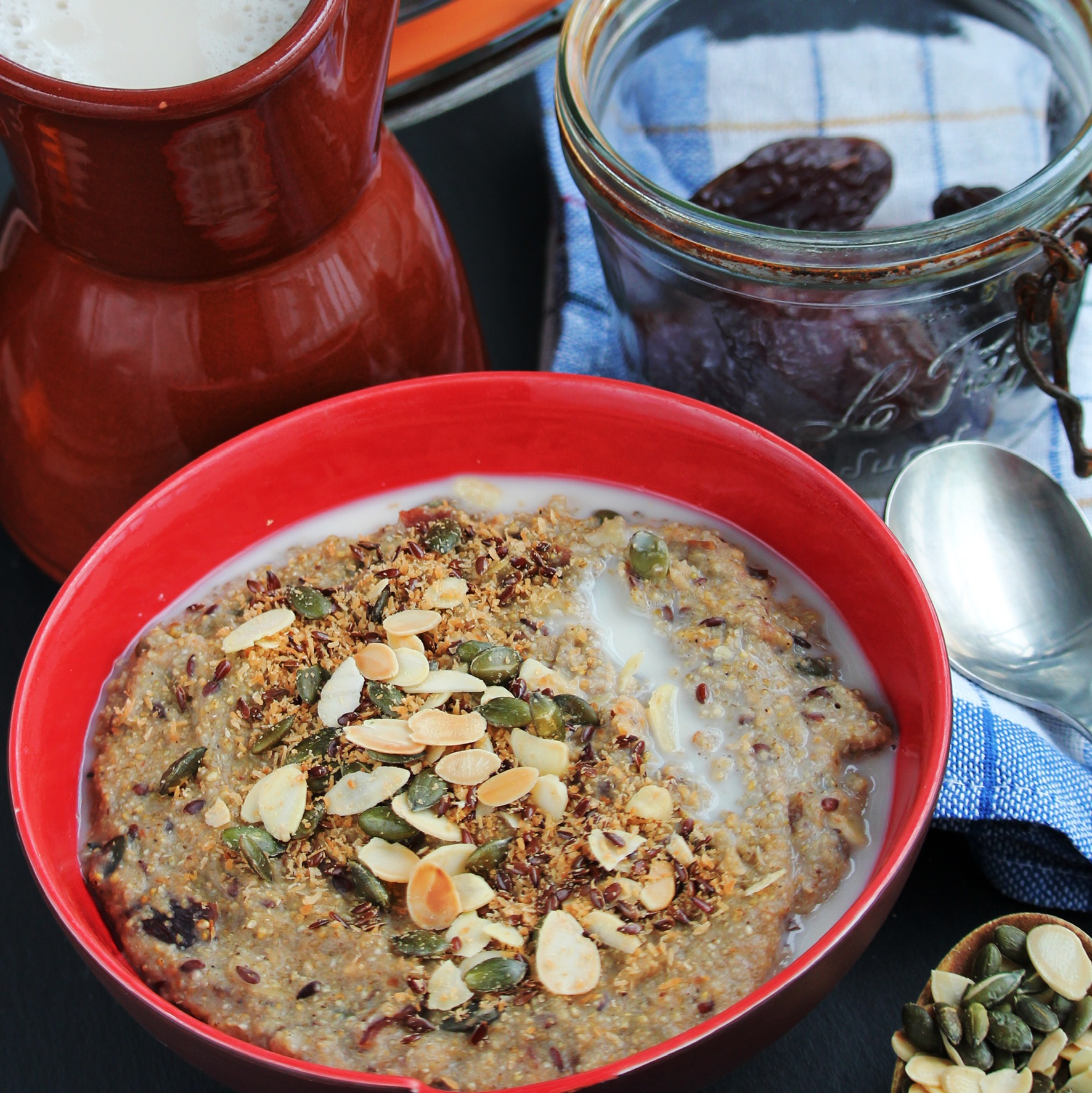Nut and Date Millet Porridge