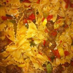 Pasta Primavera with Italian Turkey Sausage