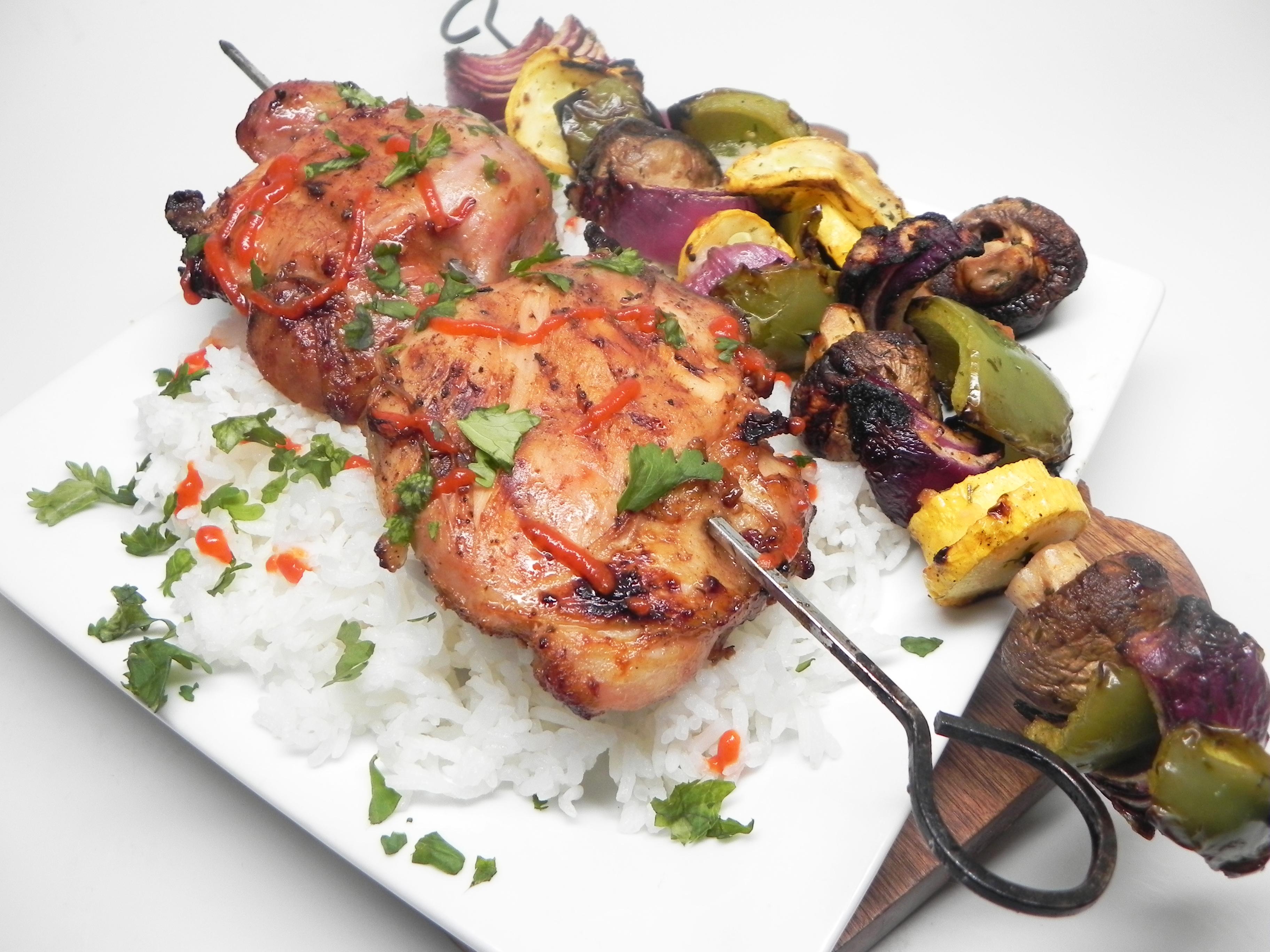 Thai Chicken Thigh Kebabs