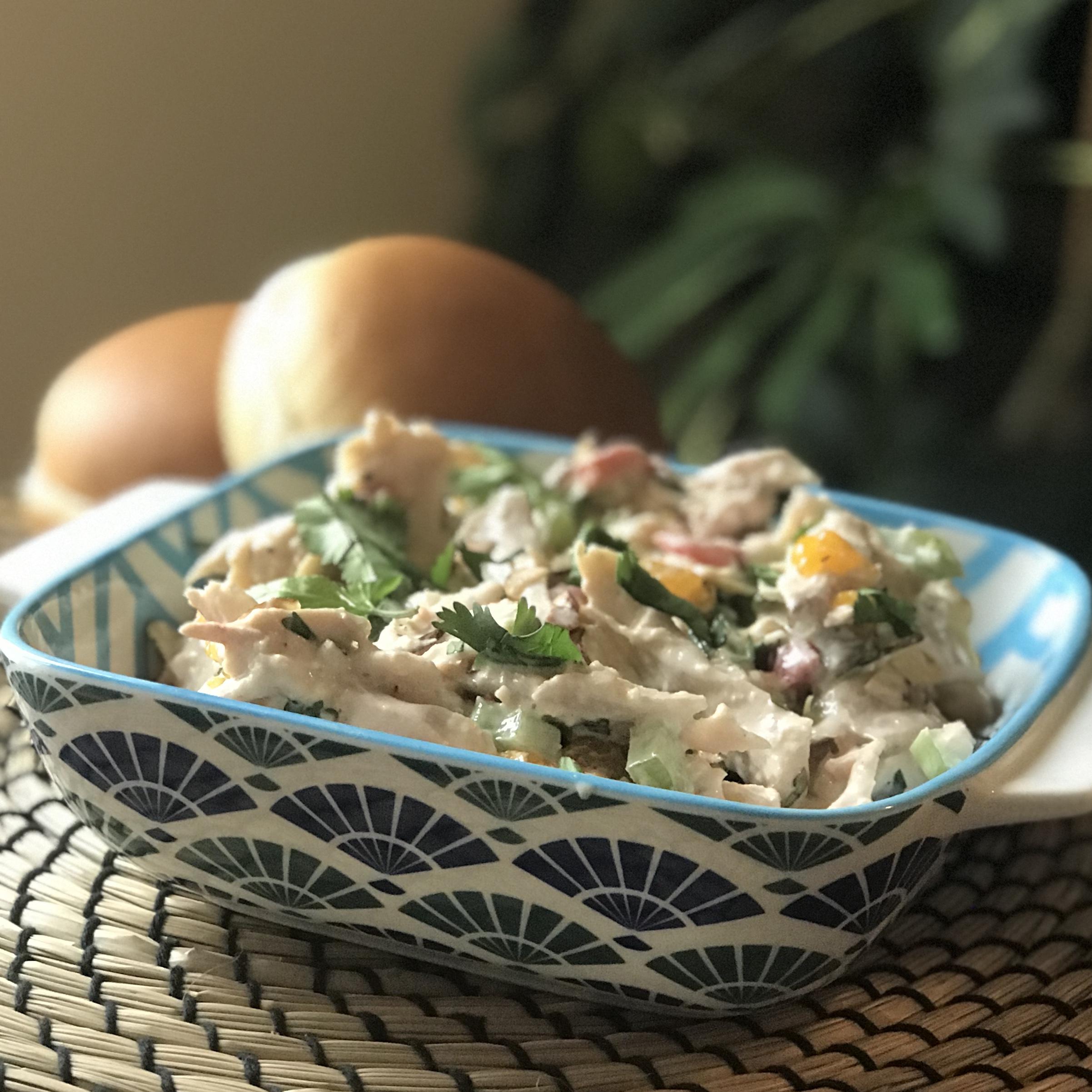 Honey-Sesame Leftover Rotisserie Chicken Salad