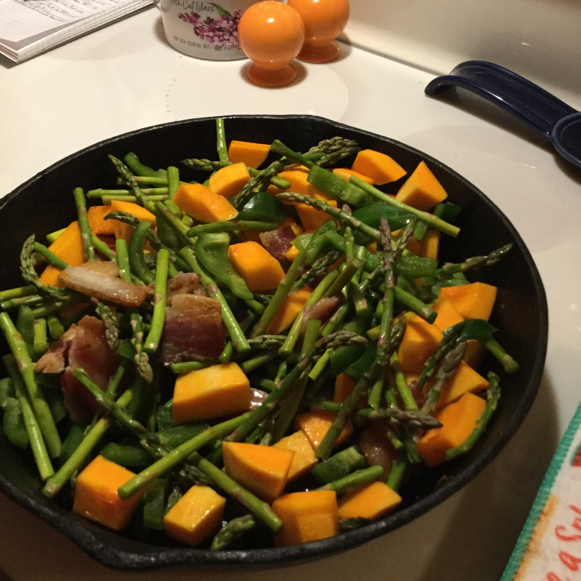 Arugula Salad with Bacon and Butternut Squash Angie Haas Hansen