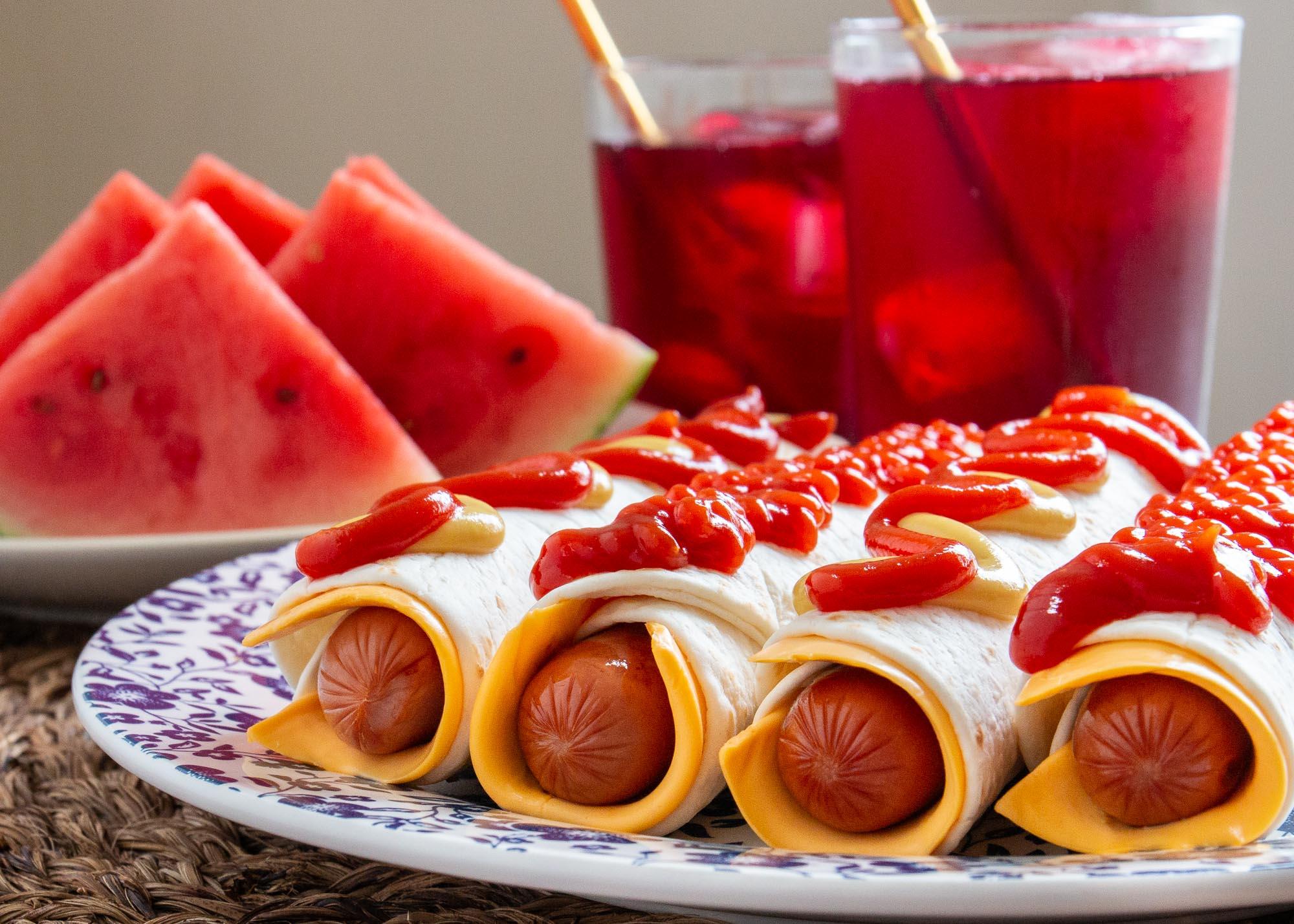 Burrito-Style Hot Dog Roll-Ups