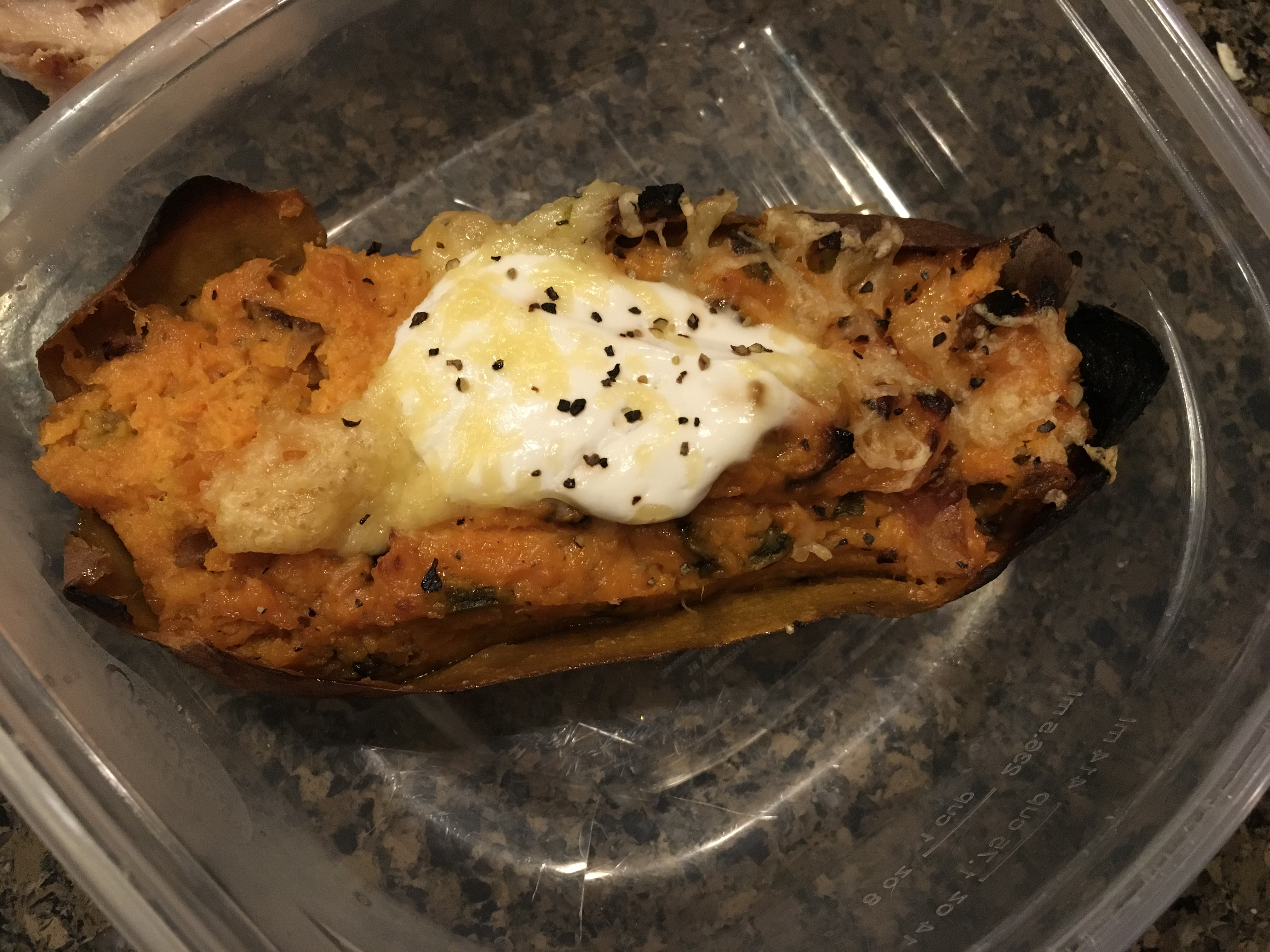 Loaded Twice-Baked Sweet Potatoes luv2cookluv2eat