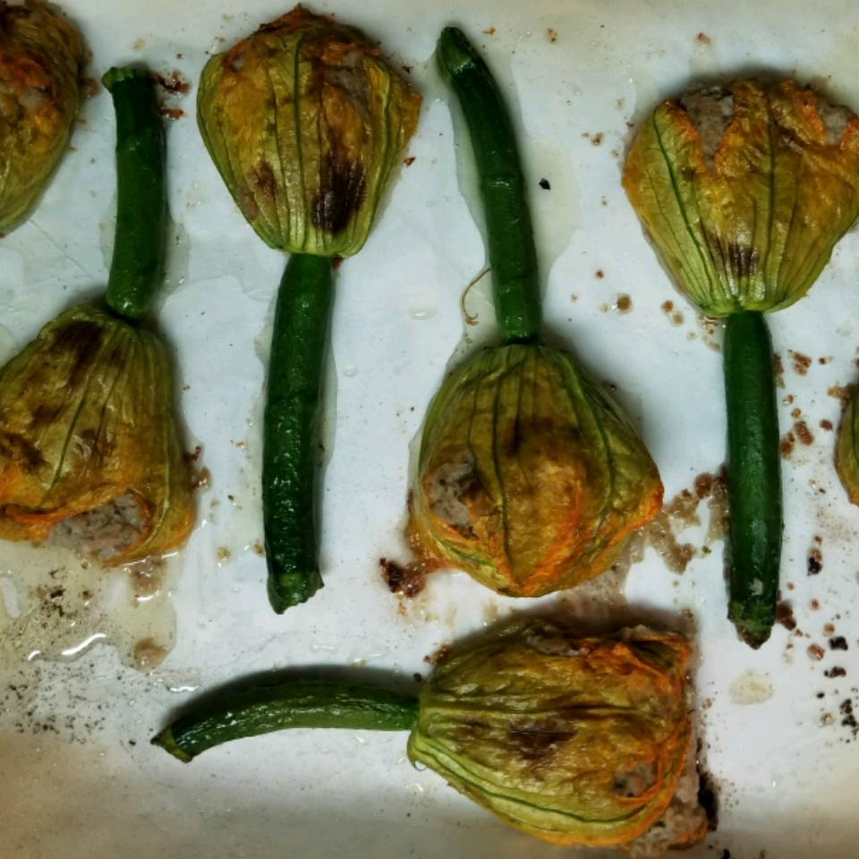 Oven Roasted Stuffed Squash Blossoms Mac's Mostly Vegan kitchen