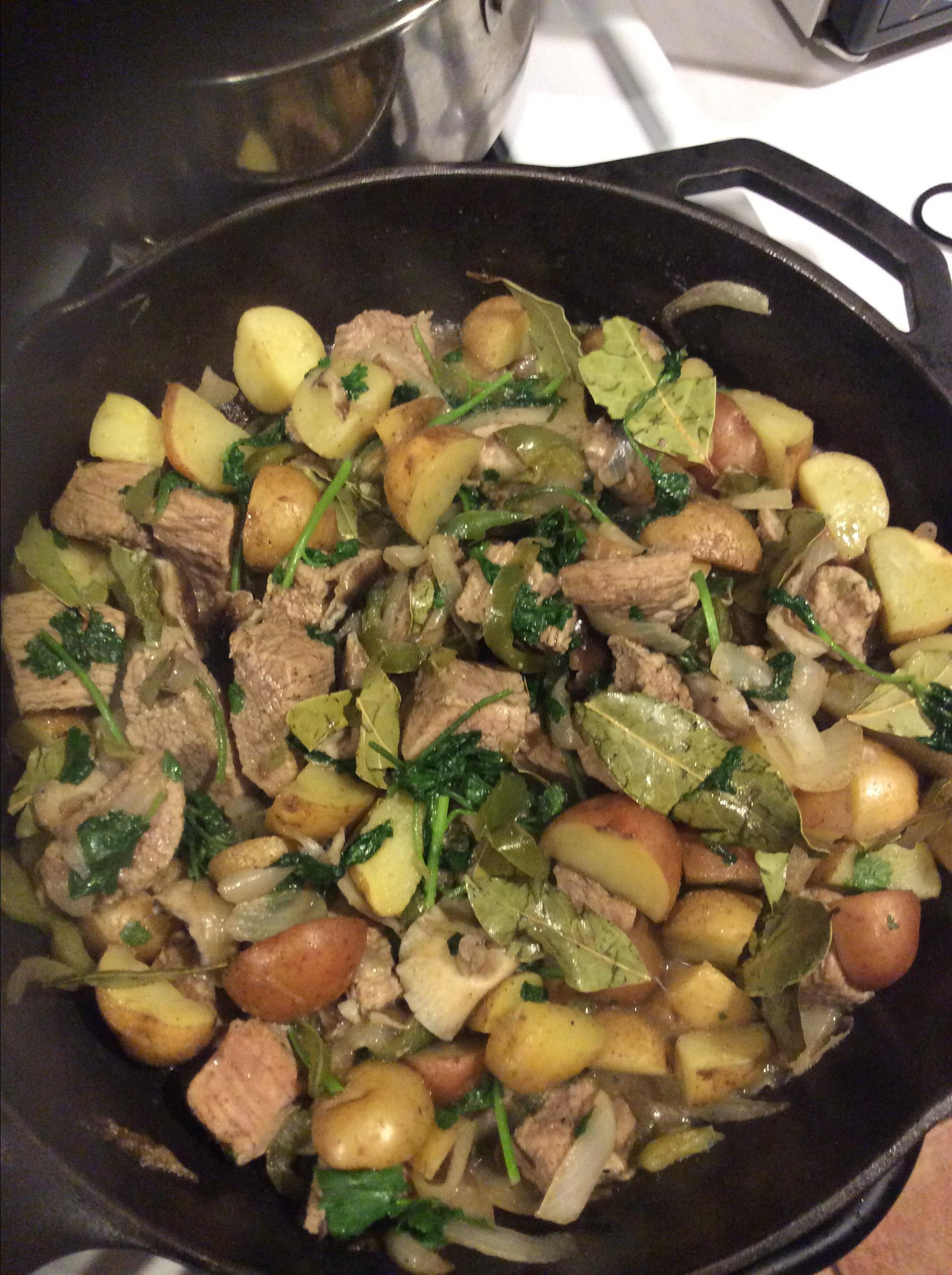 Lamb Stew with Potatoes and Cilantro Moemei