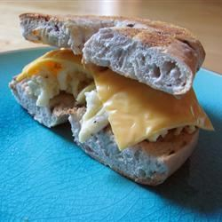 Blueberry Egg and Cheese Bagel AZ