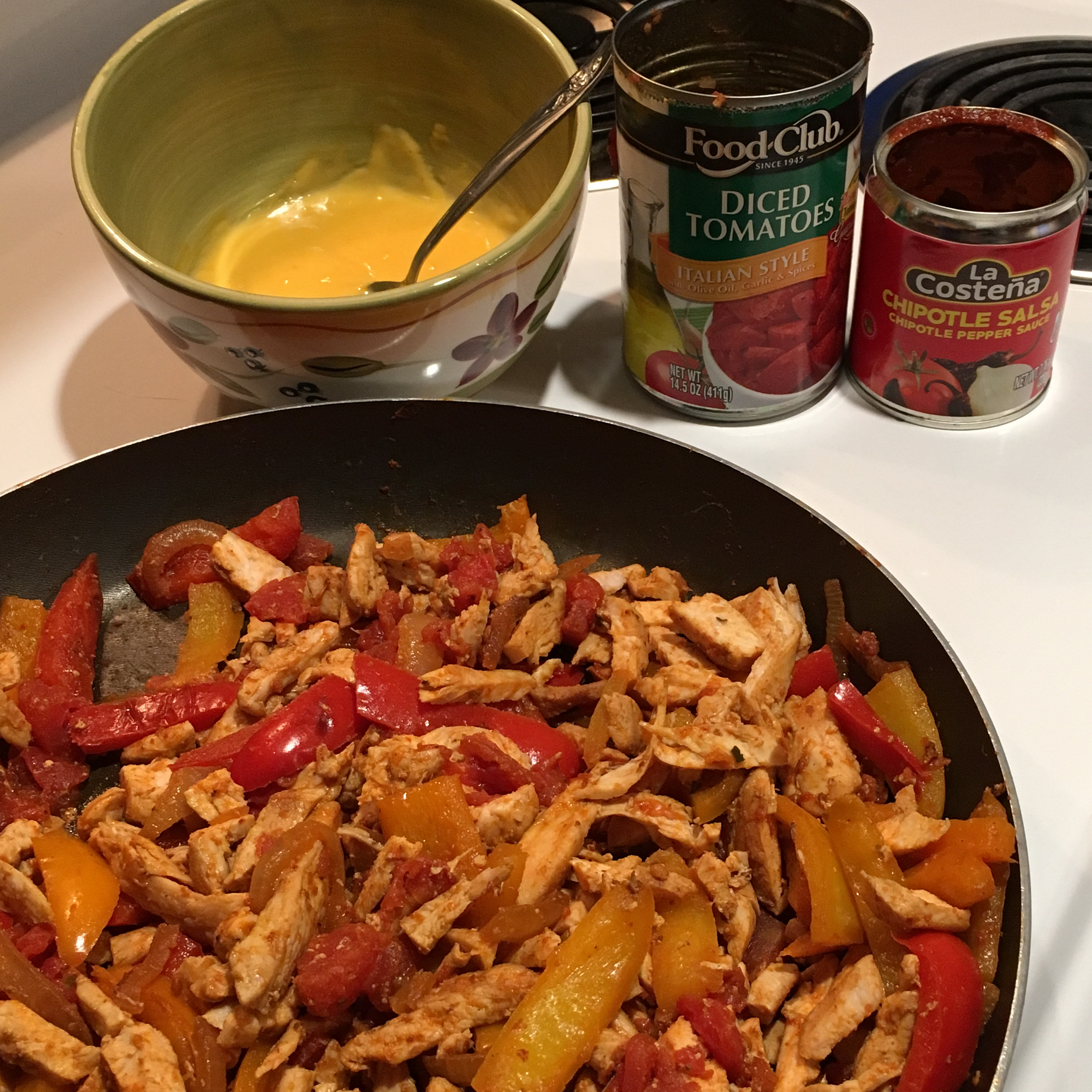 Easy Chicken Fajitas from RO*TEL