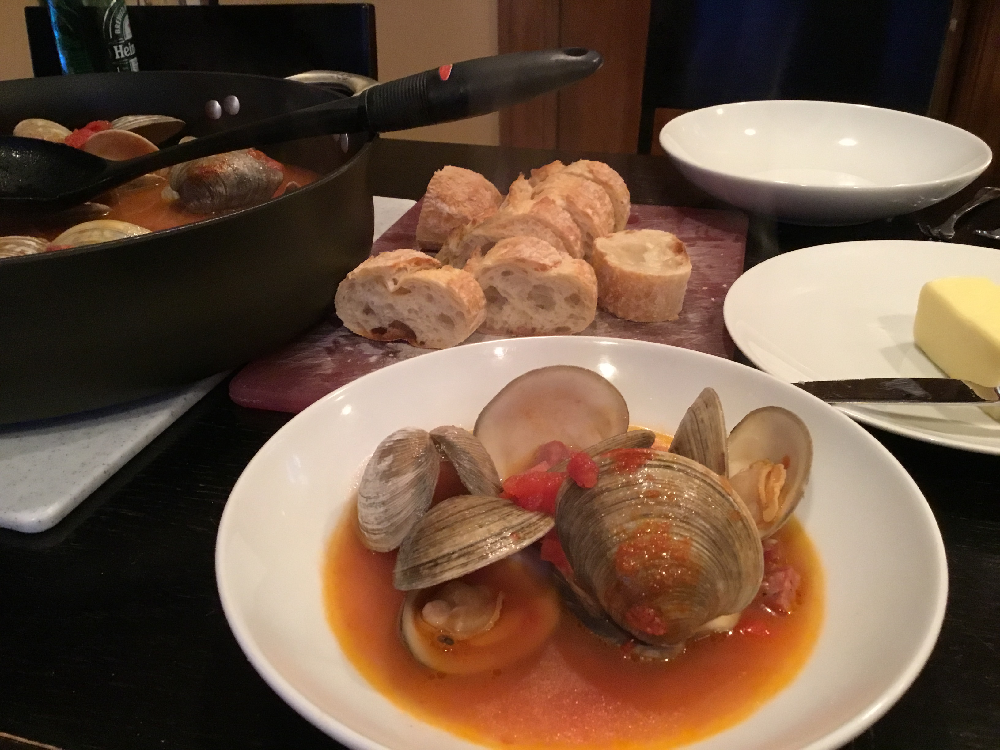 Portuguese Steamed Clams Saveur