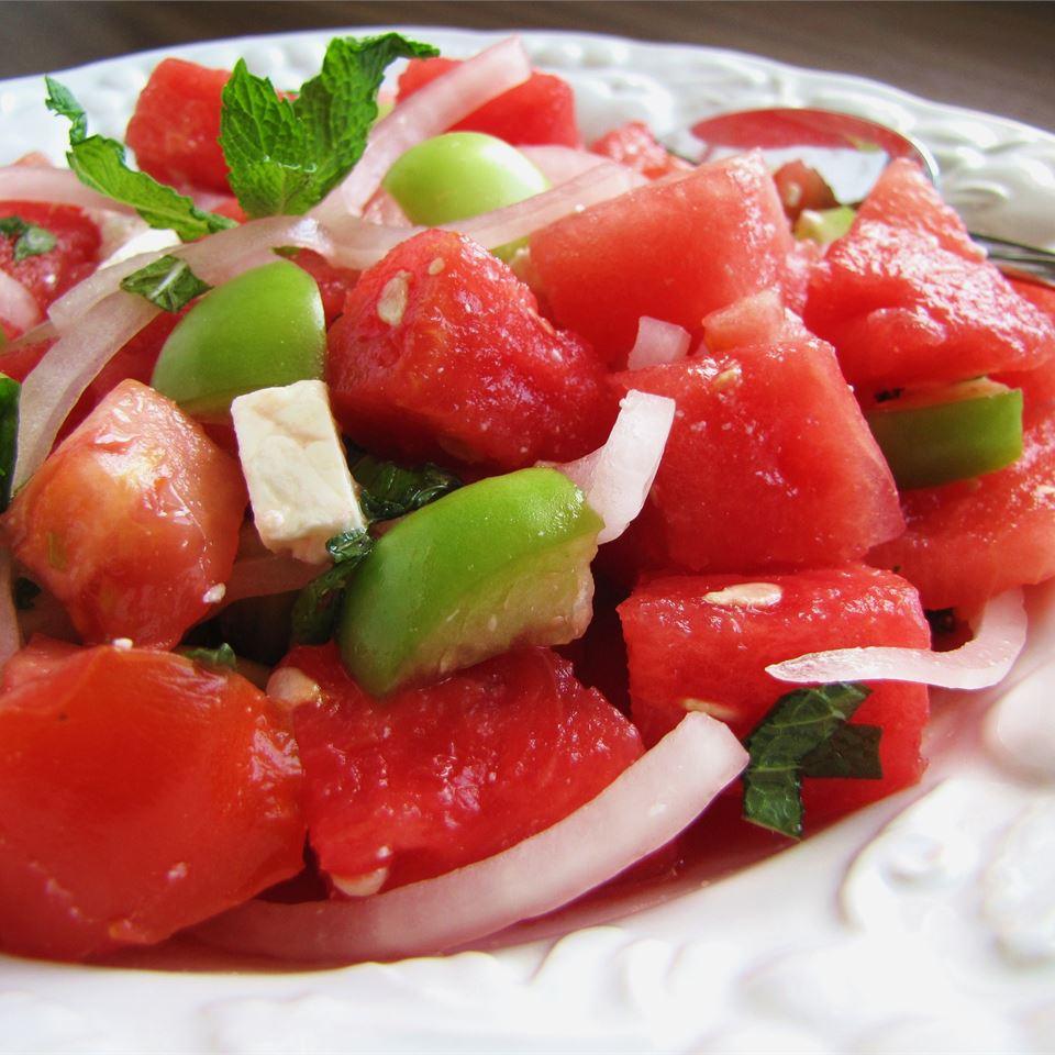 Watermelon and Tomato Feta Salad