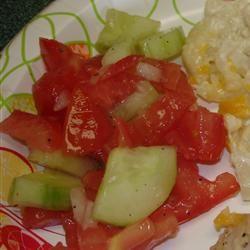 Tomato Cucumber Salad teapea33