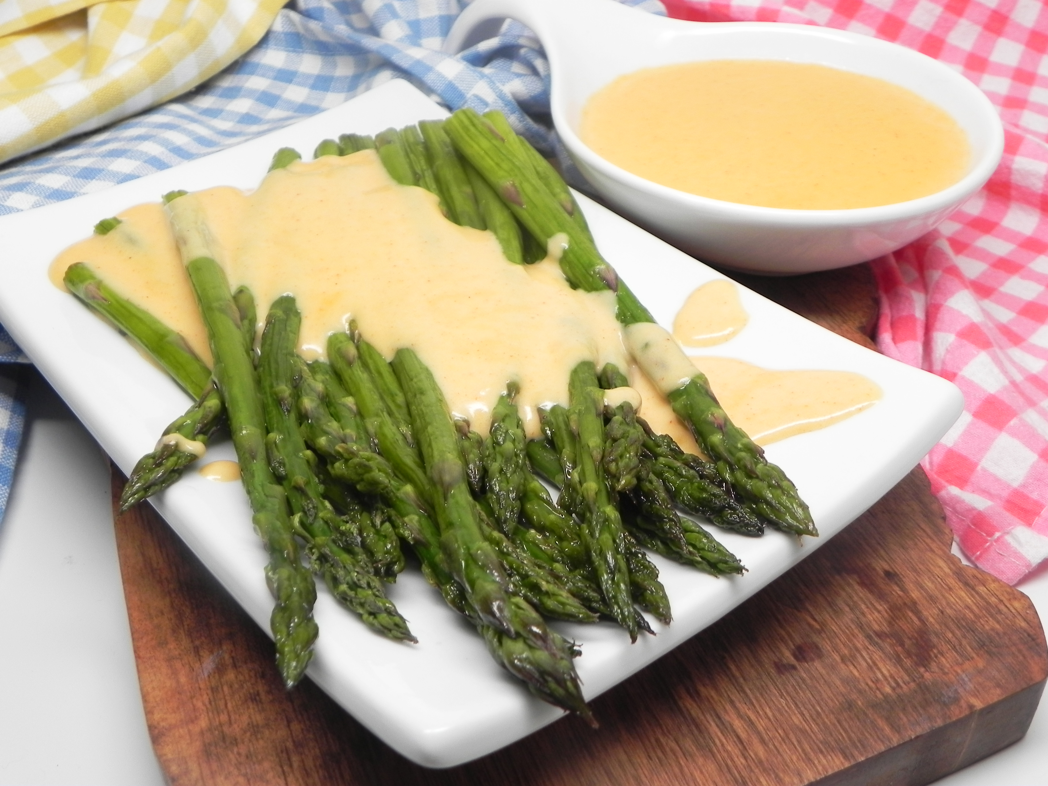 Roasted Asparagus with Smoky Gouda Cheese Sauce Soup Loving Nicole
