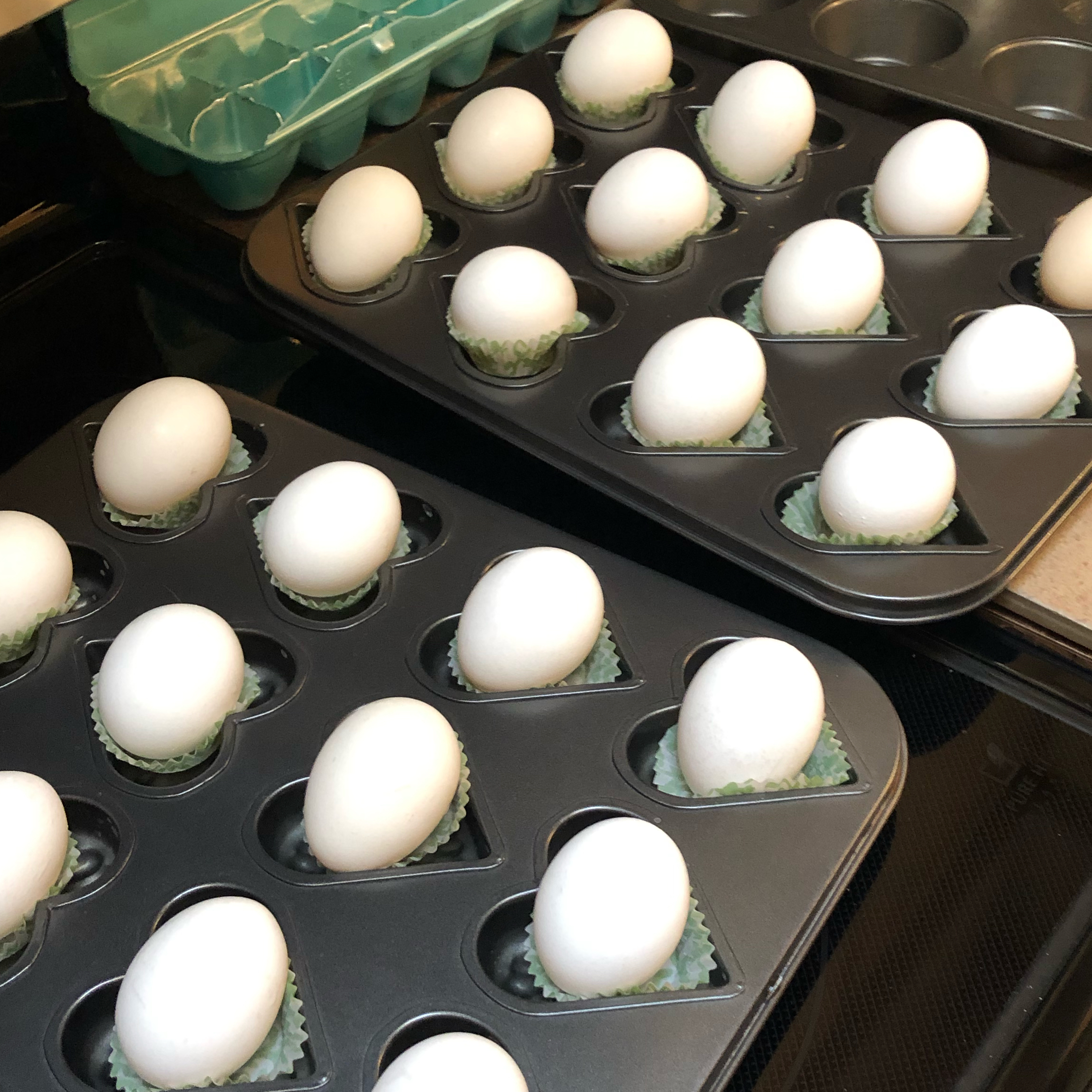 Hard Boiled Eggs in the Oven