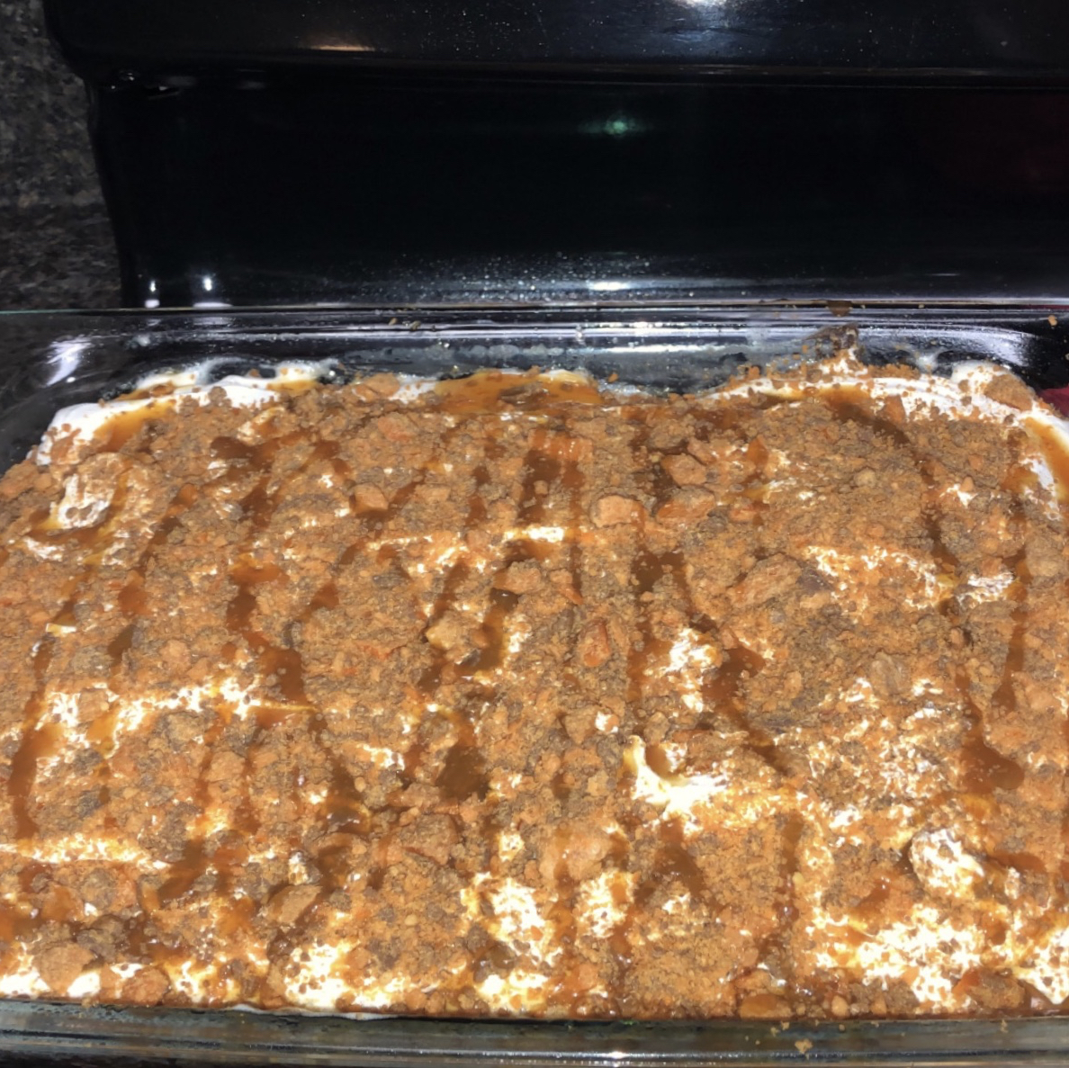 Chocolate Butterfinger-Caramel Cake Haley Keeter