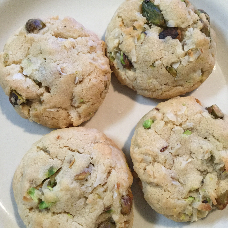 Coconut Pistachio Cookies Lorley