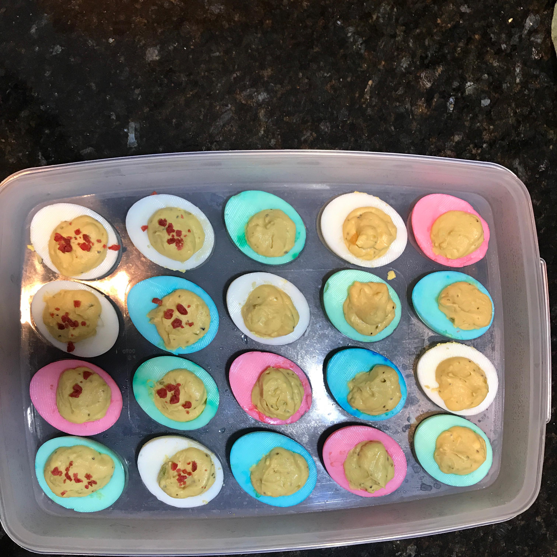 Easter Deviled Eggs Del