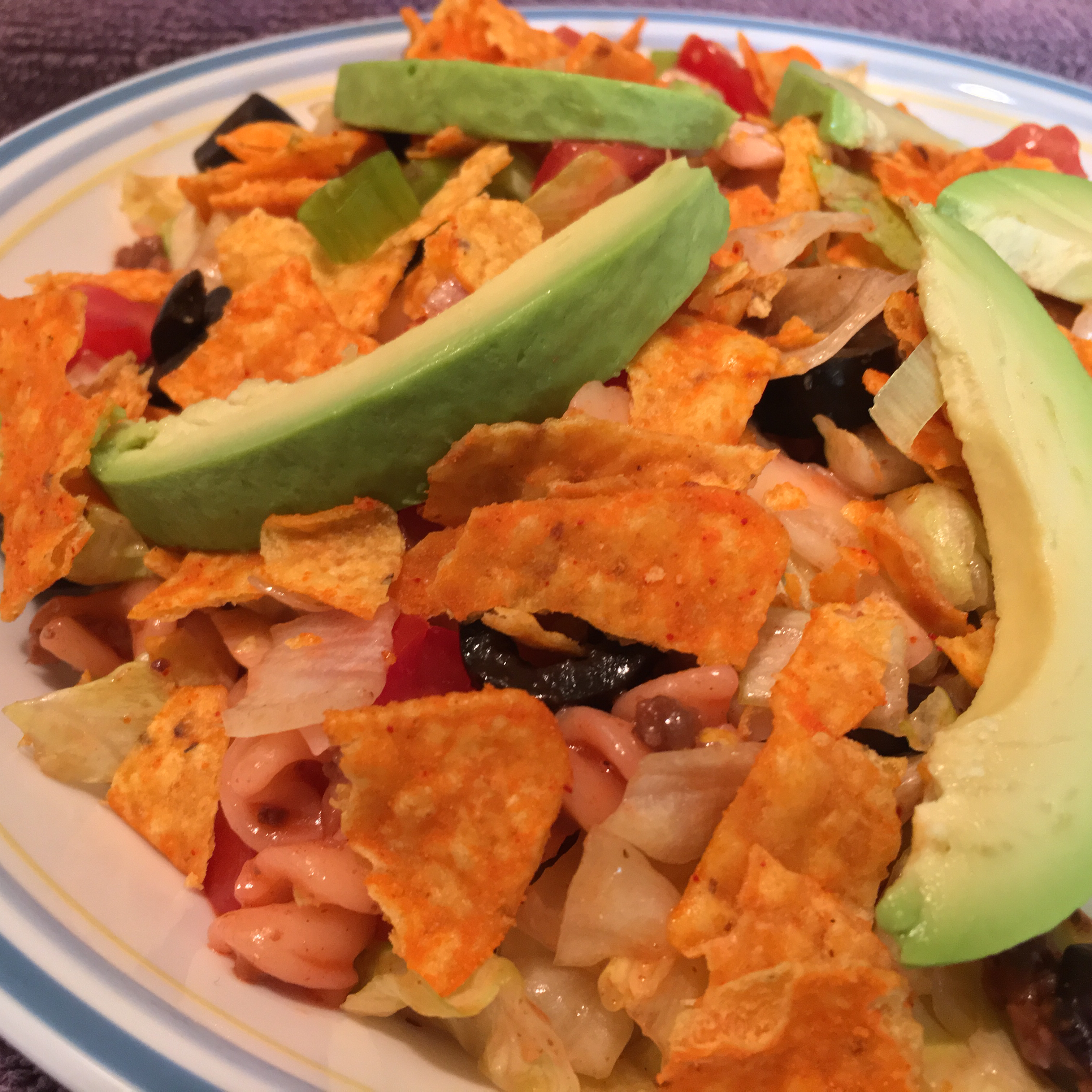 Taco Pasta Salad with French Dressing