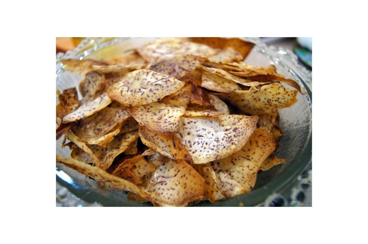 Baked Taro Chips Kasandra