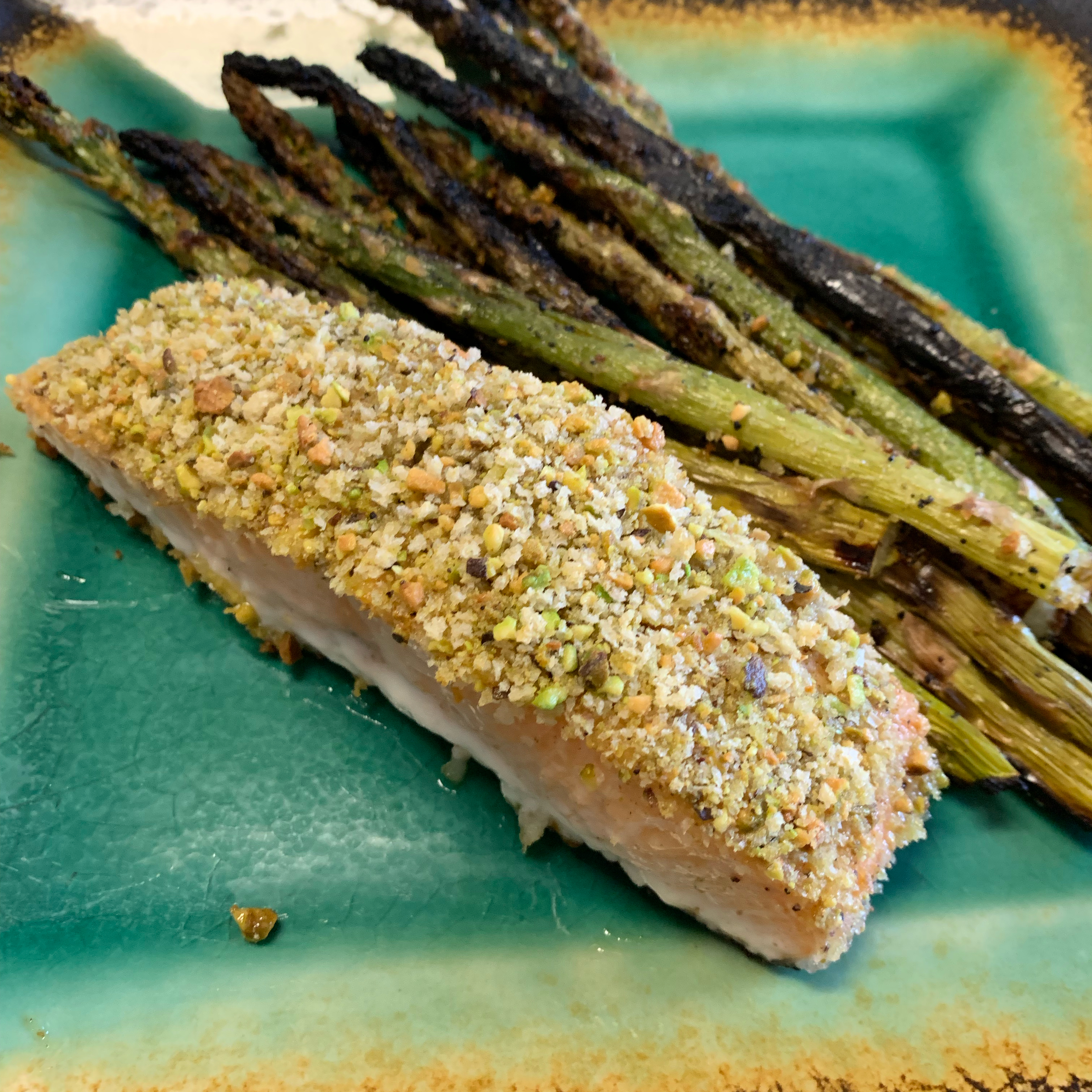 Oven-Roasted Pistachio-Crusted Salmon Neil Werfel