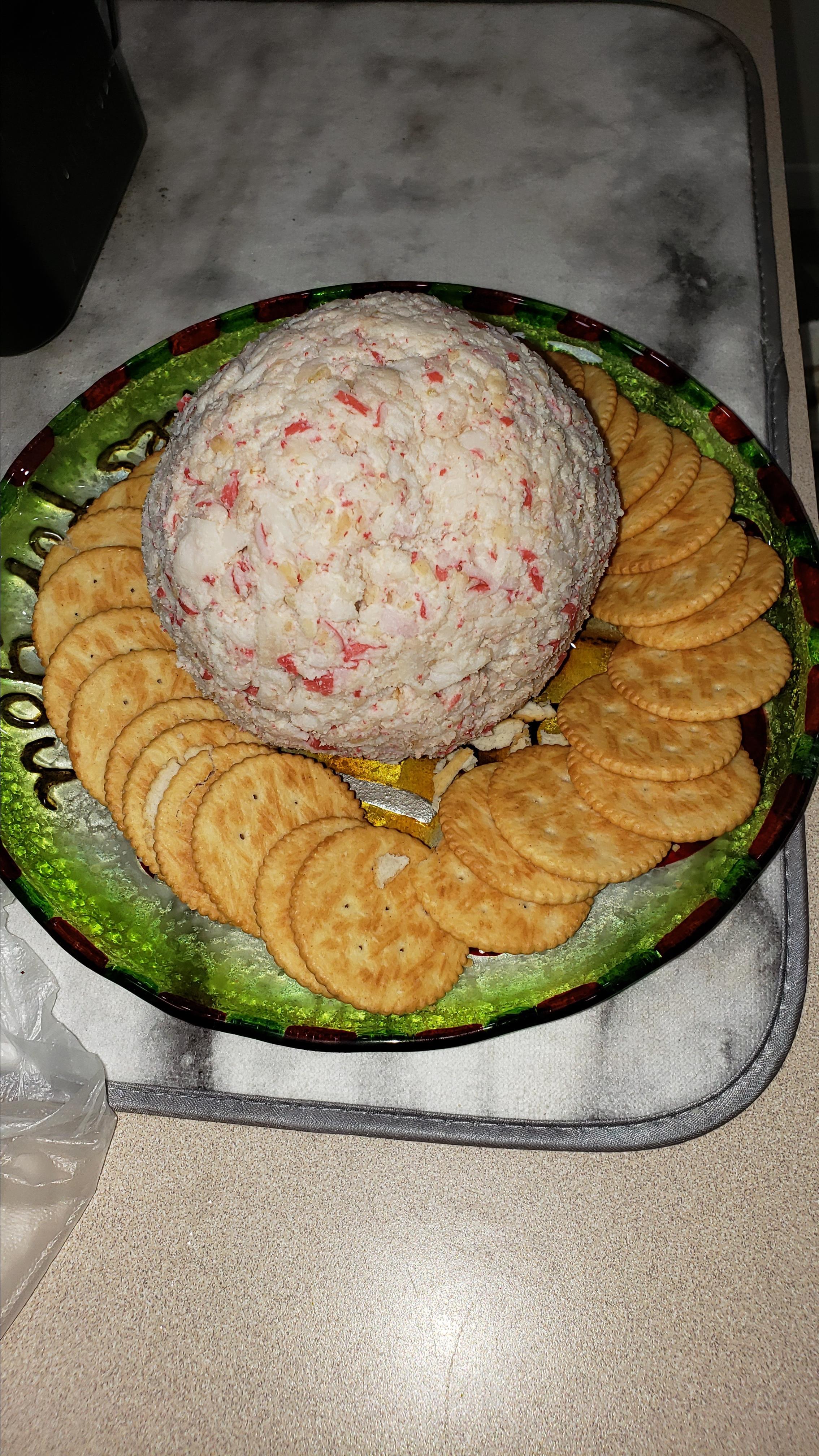 Devil Crab Cream Cheese Ball