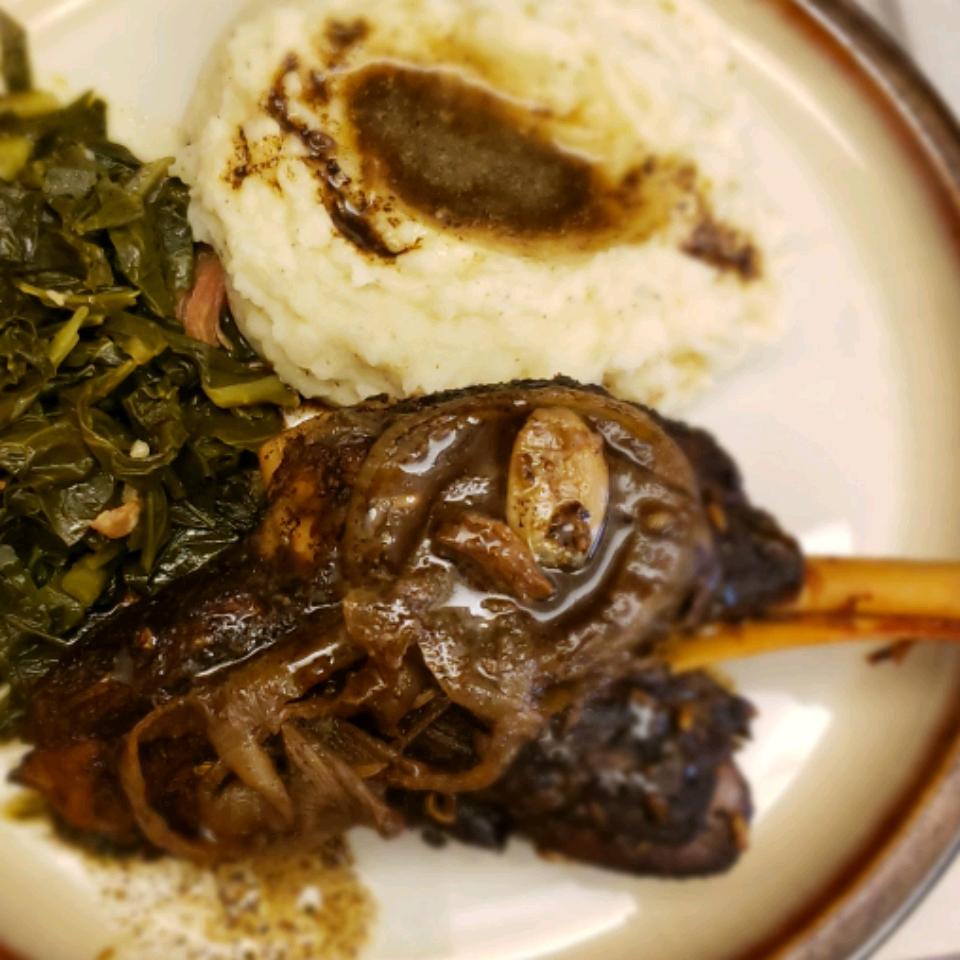 Saba-Braised Lamb Shanks