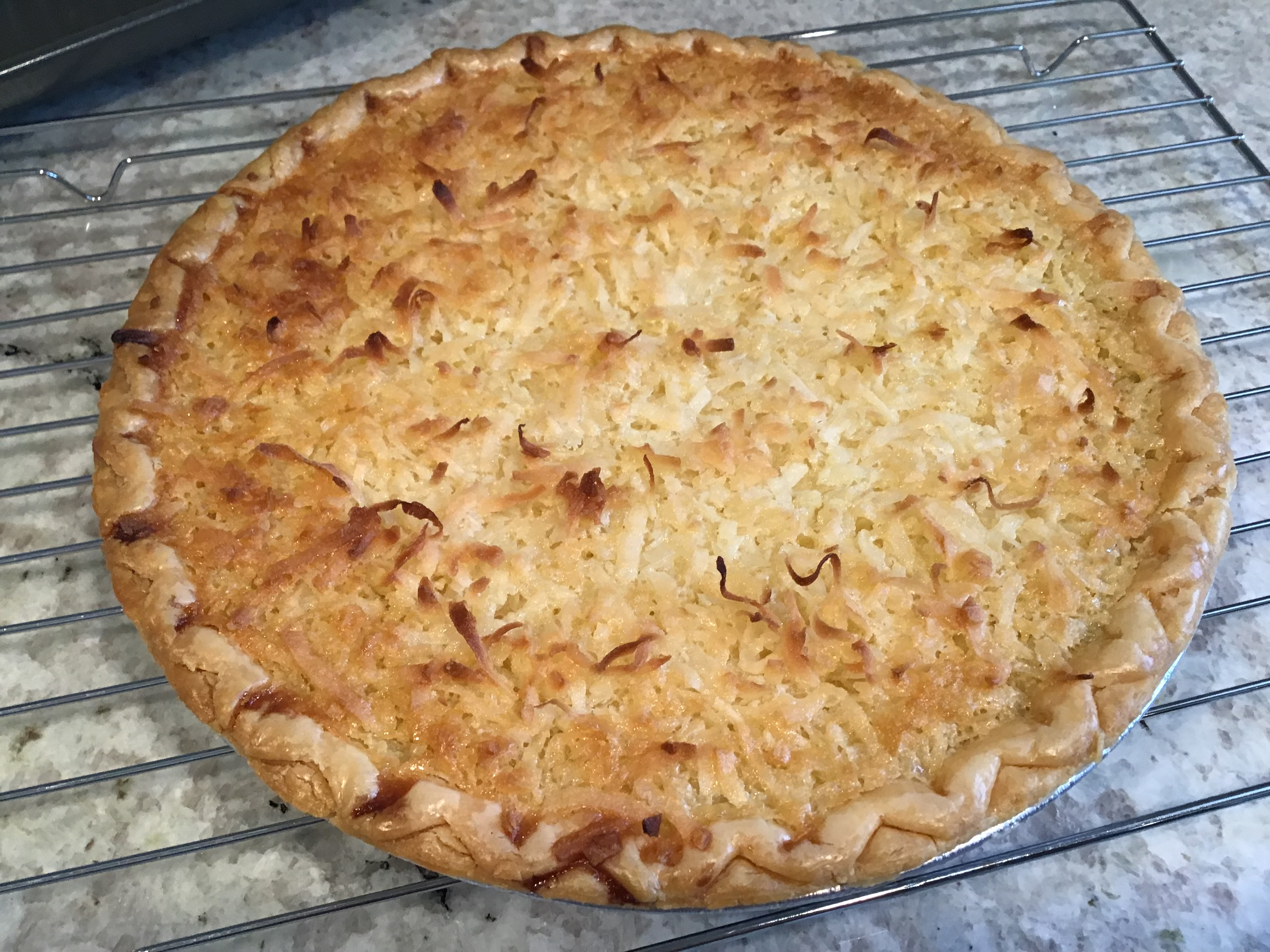 Coconut Custard Pie I
