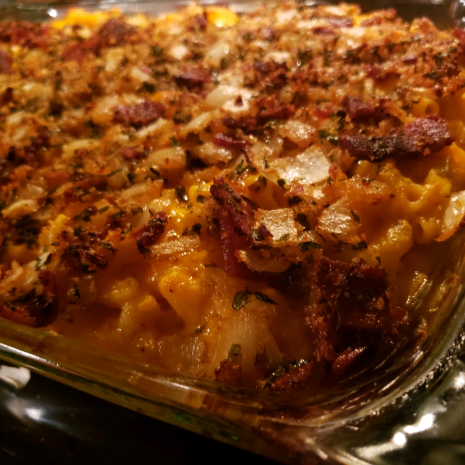 Macaroni and Cheese with Caramelized Onions and Bacon Nicole Grund
