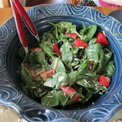 Chicken Strawberry Spinach Salad with Ginger-Lime Dressing Leia