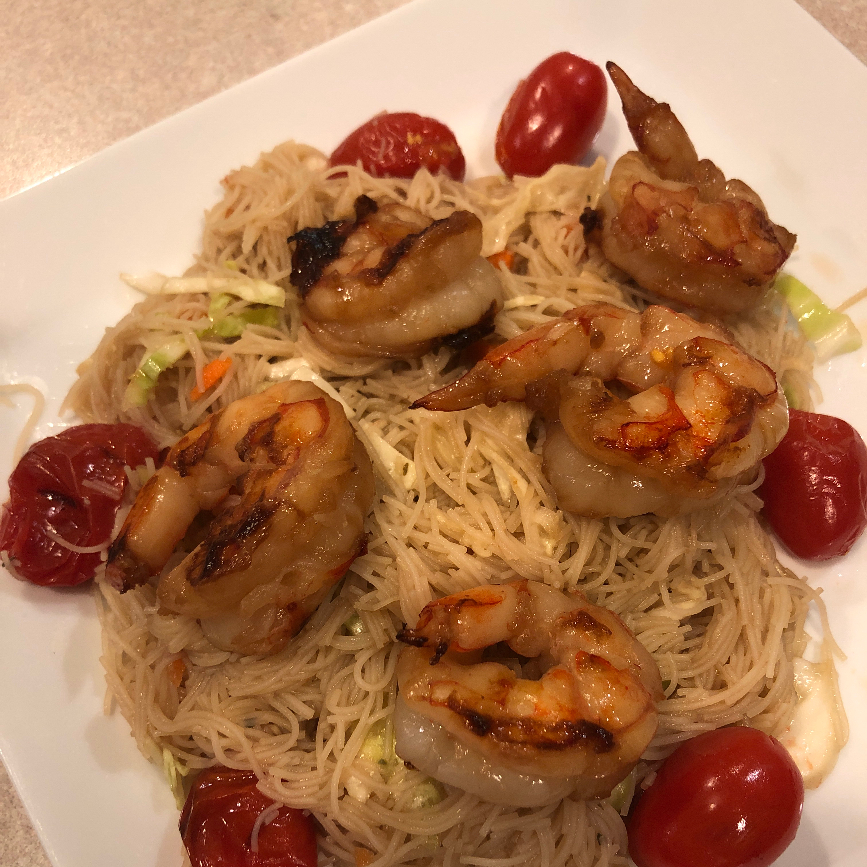Grilled Shrimp and Rice Noodle Salad Skirts