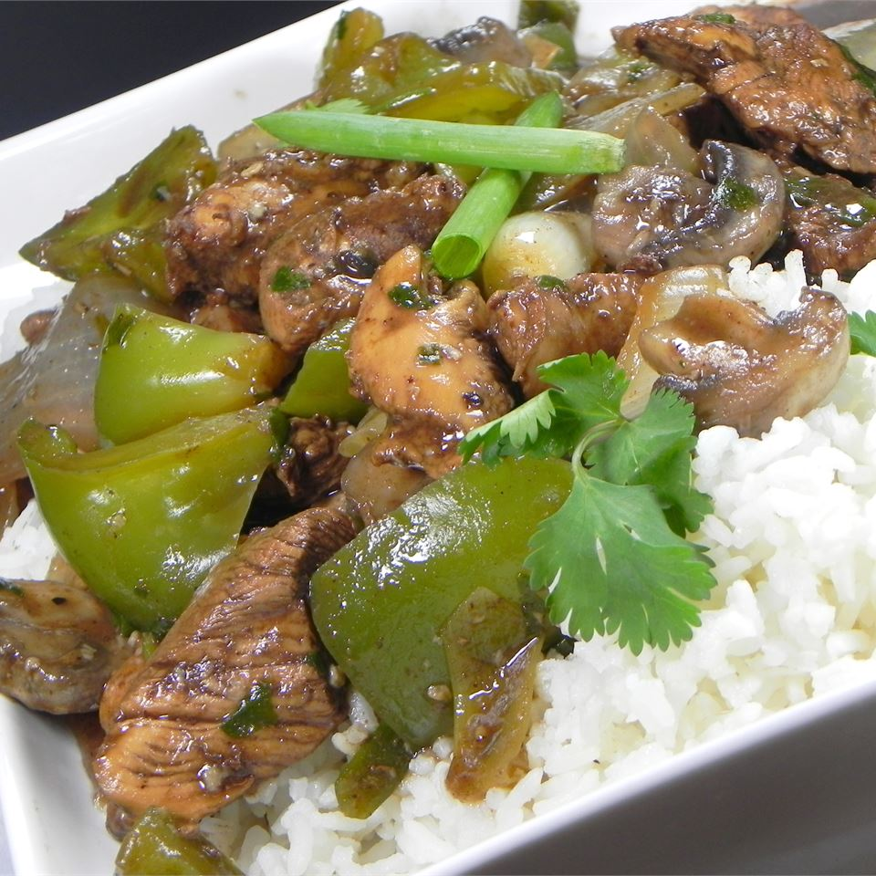 Chicken with Green Peppers in Black Bean Sauce Stephen