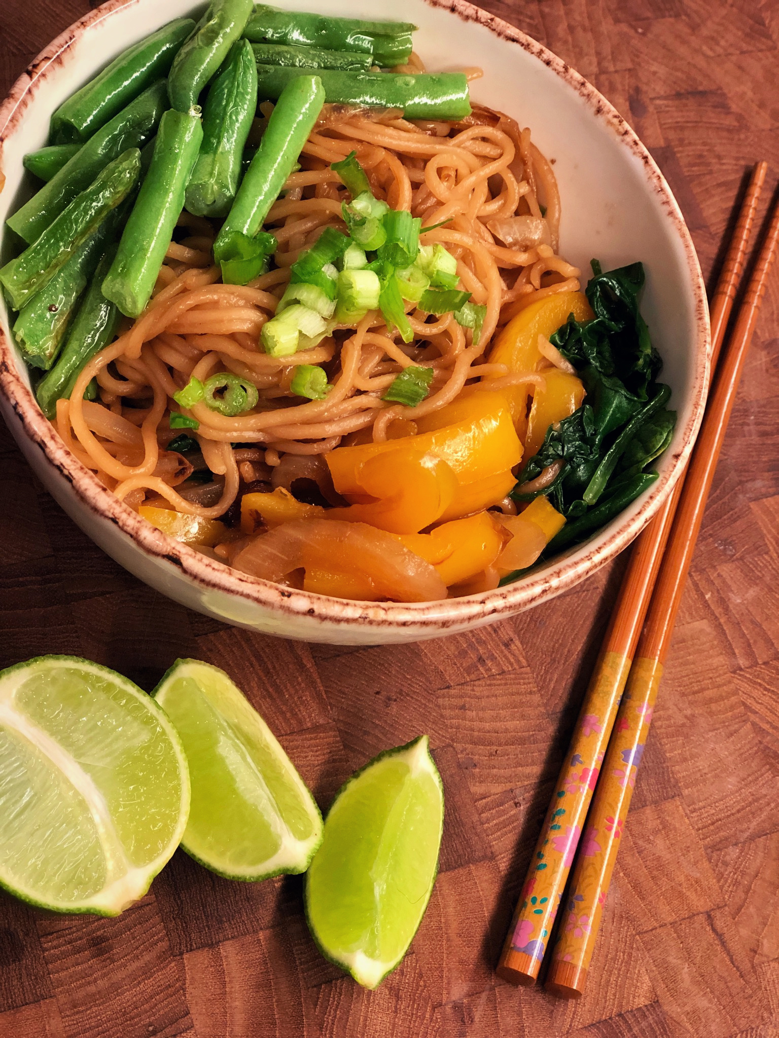 """Also known as 'yasai yakisoba,' this is a healthy and quick dish with stir-fried noodles, vegetables, and a savory sauce,"" says Diana71. ""The recipe can be easily doubled, but this is really best for one person."""