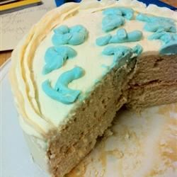 White Almond Wedding Cake Andrea09