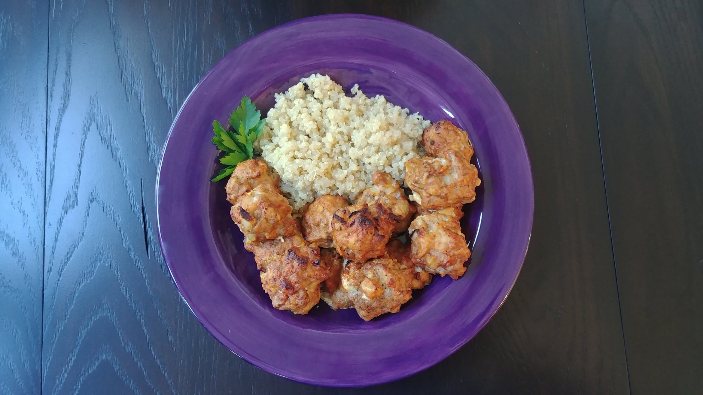 Chicken Meatballs with Quinoa