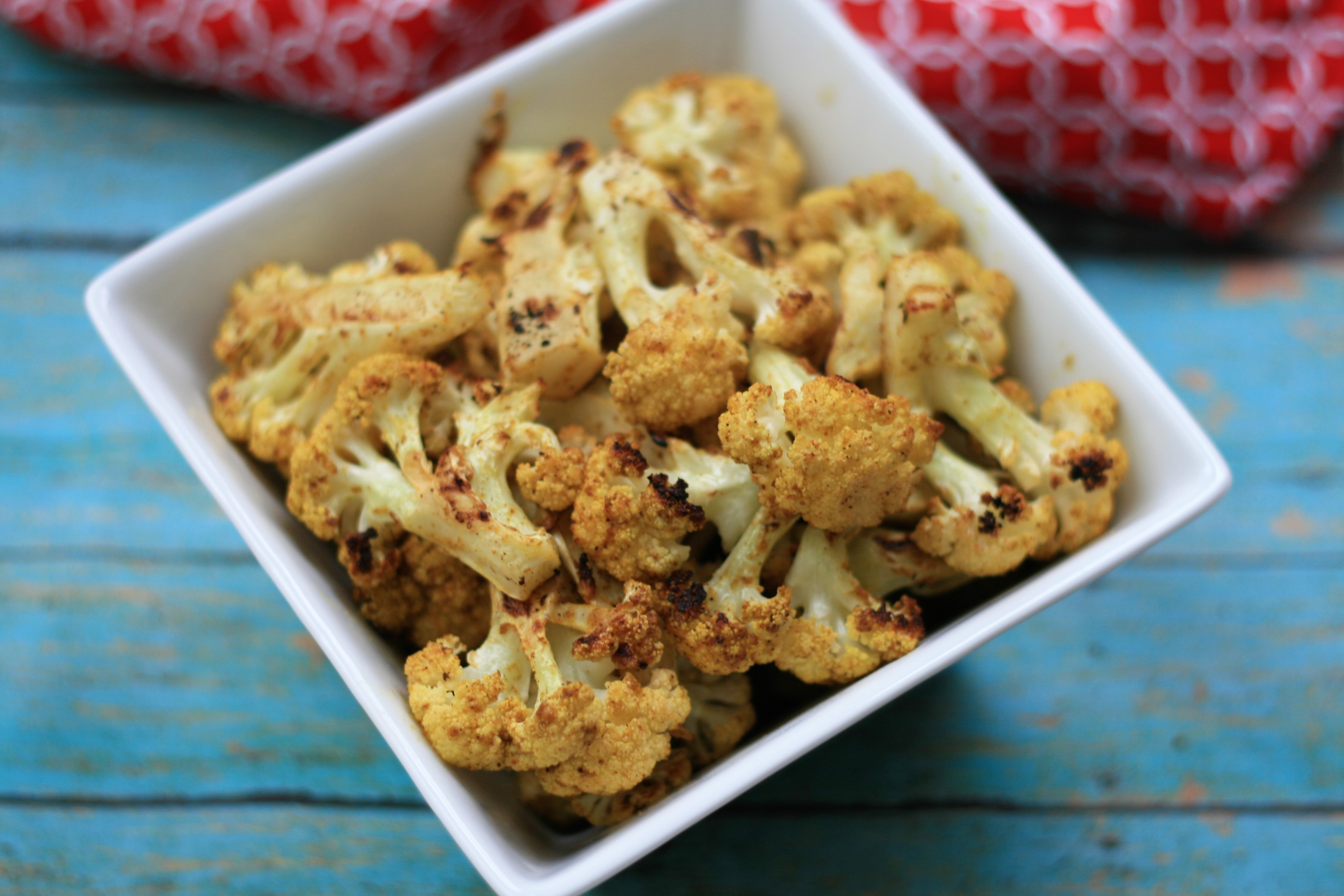 Vegan Roasted Curry Cauliflower