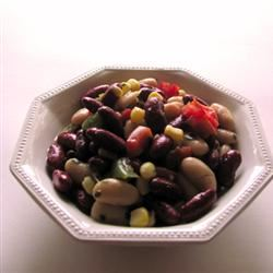 Red, White and Black Bean Salad